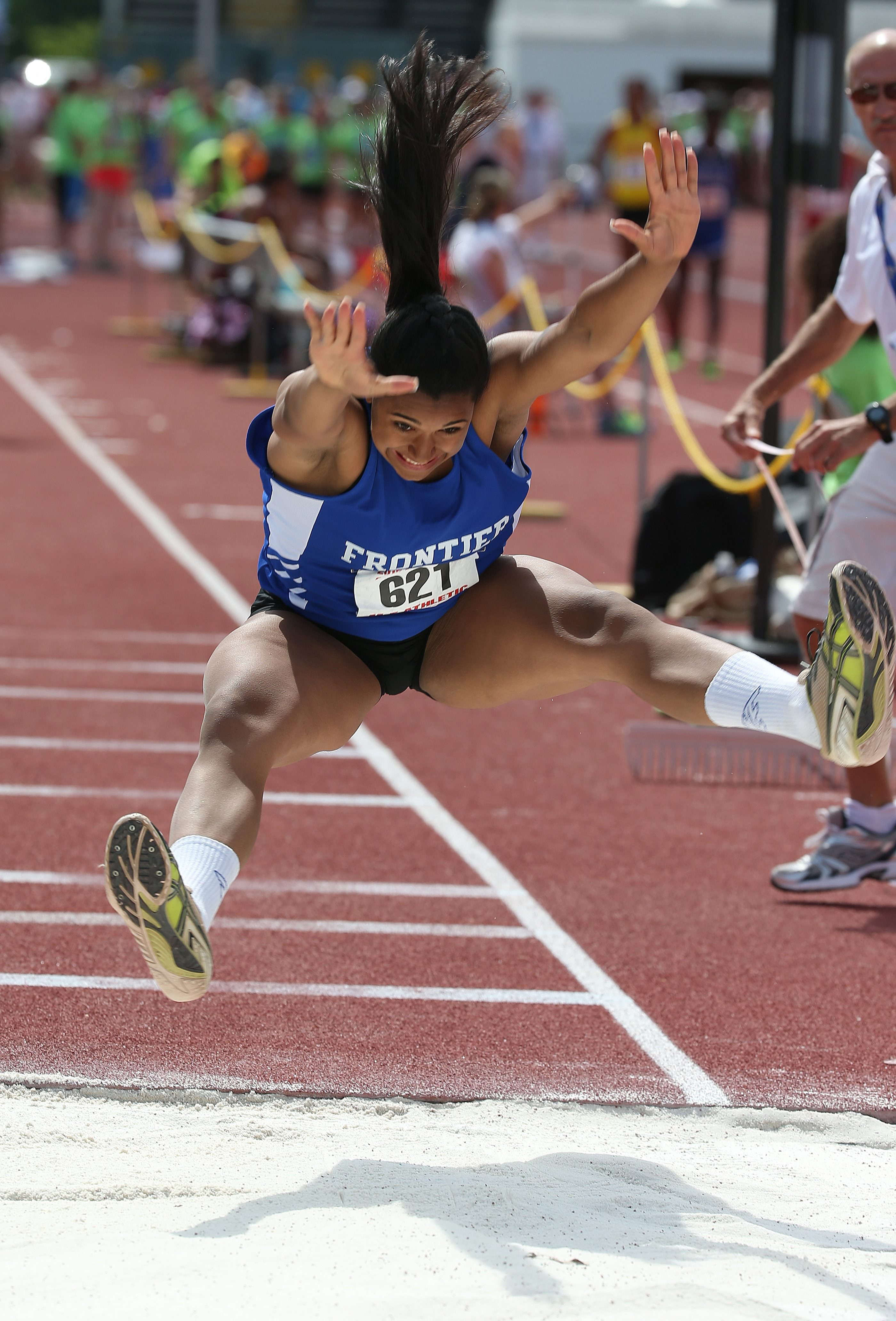 Frontier's McKyla Brooks won the Federation long jump at the New York State Track and Field championships. For a photo gallery from Saturday's action at the state track meet, go to BuffaloNews.com.