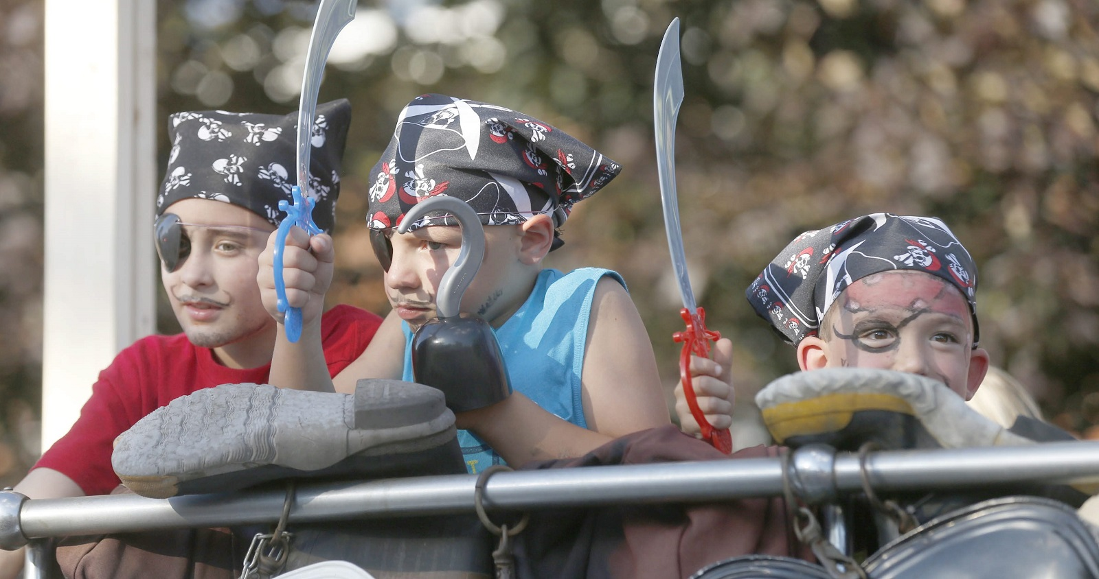 These small pirates appear to have enjoyed the Canal Fest parade. The festivities in Tonawanda run through Sunday. (Robert Kirkham/Buffalo News)