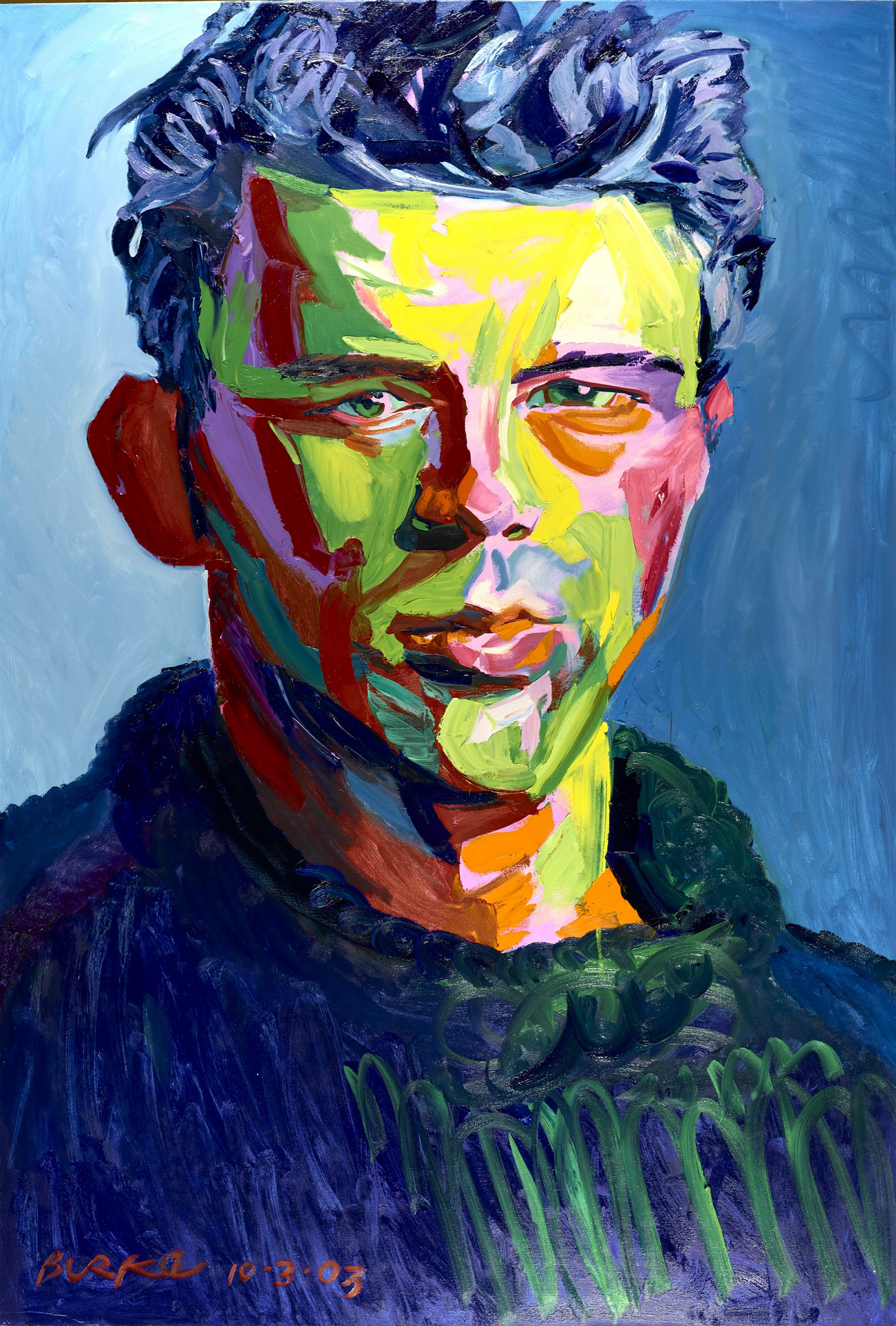 """Philip Burke's portrait of James Dean is one of hundreds hanging in the Burchfield Penney Art Center's exhibition """"The Likeness of Being: Portraits by Philip Burke."""""""