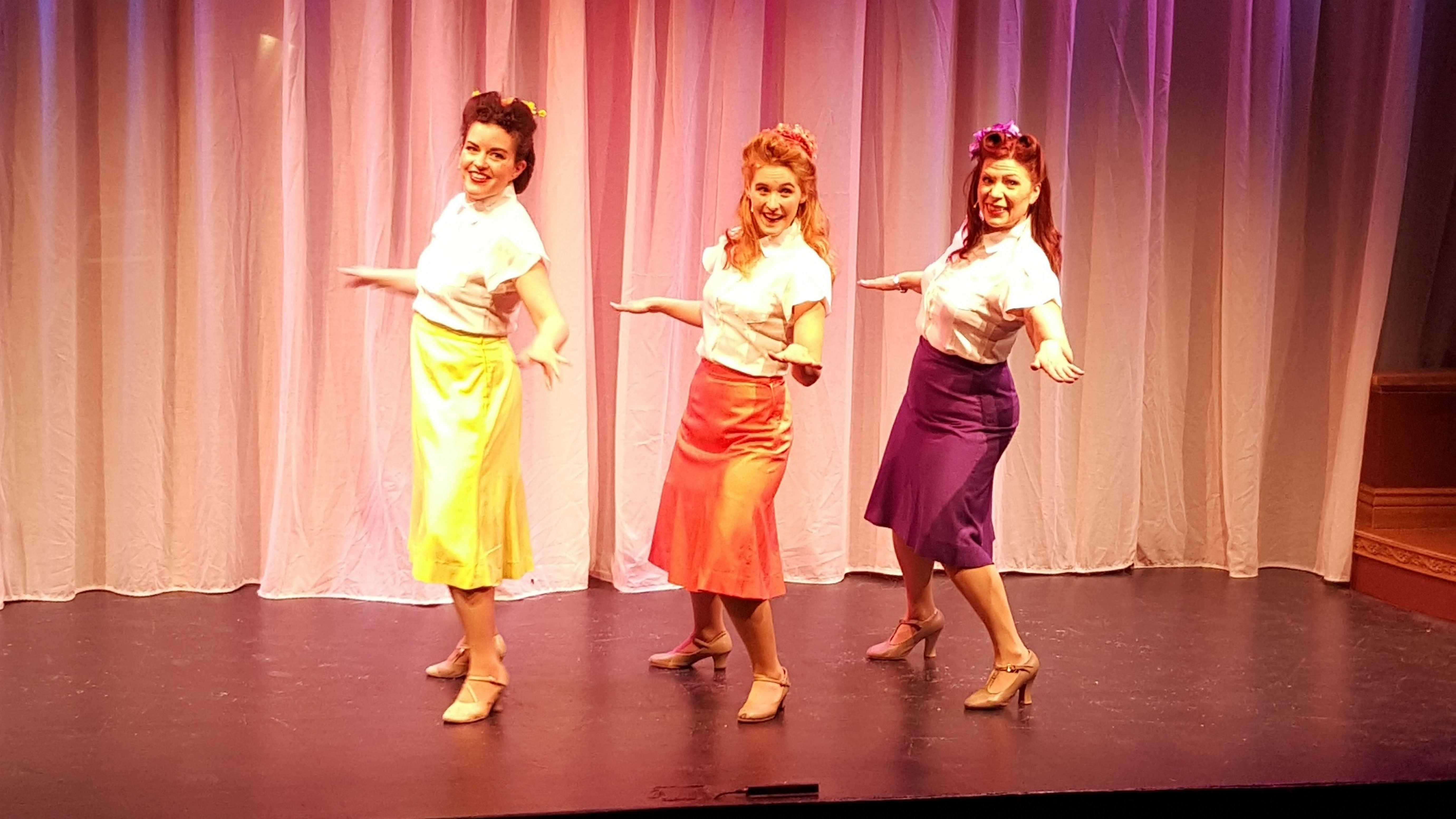 "Michele Marie Roberts, Renee Landrigan and Wendy Hall star in ""Sisters of Swing"" at MusicalFare Theatre."