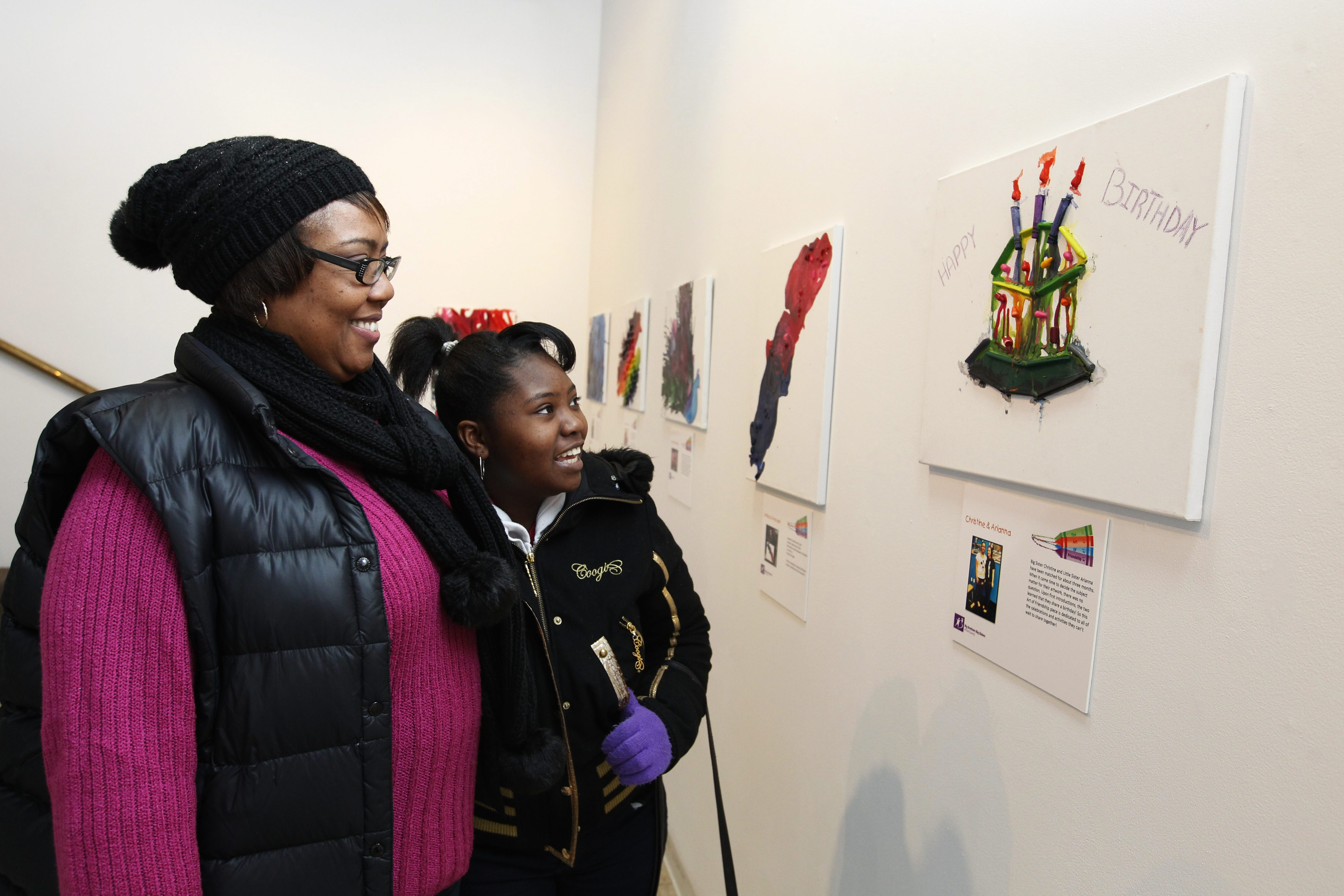 The Starlight Studio will celebrate its 10th anniversary on Friday with a special event. Pictured visiting Starlight in January are Angela Whatley and Lechee Mack.
