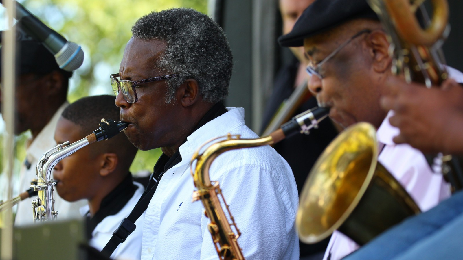 The Larry Salter Soul Orchestra performed at the 20th annual Masten Jazz Festival in Martin Luther King Jr. Park. (Mark Mulville/Buffalo News)