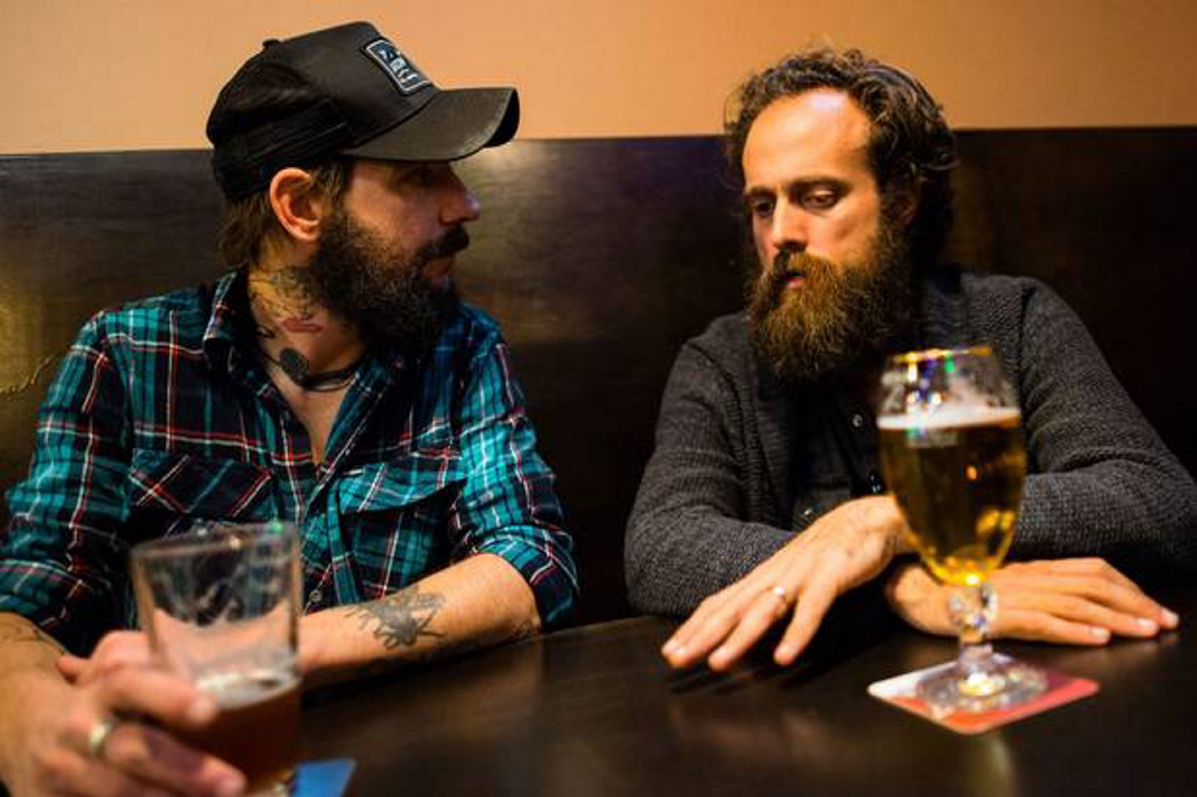 Ben Bridwell, left, teams with Sam Beam's Iron & Wine for a concert at Canalside on Thursday.