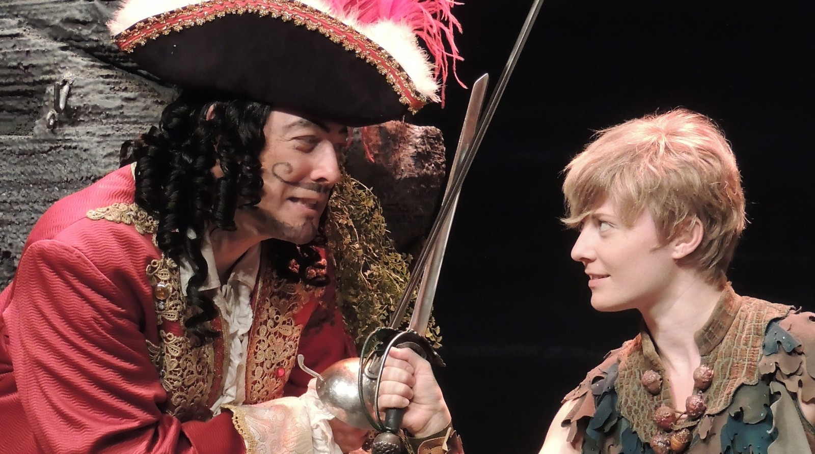 John Bolton as Captain Hook and Hayley Podschun as Peter Pan delight Artpark crowds.