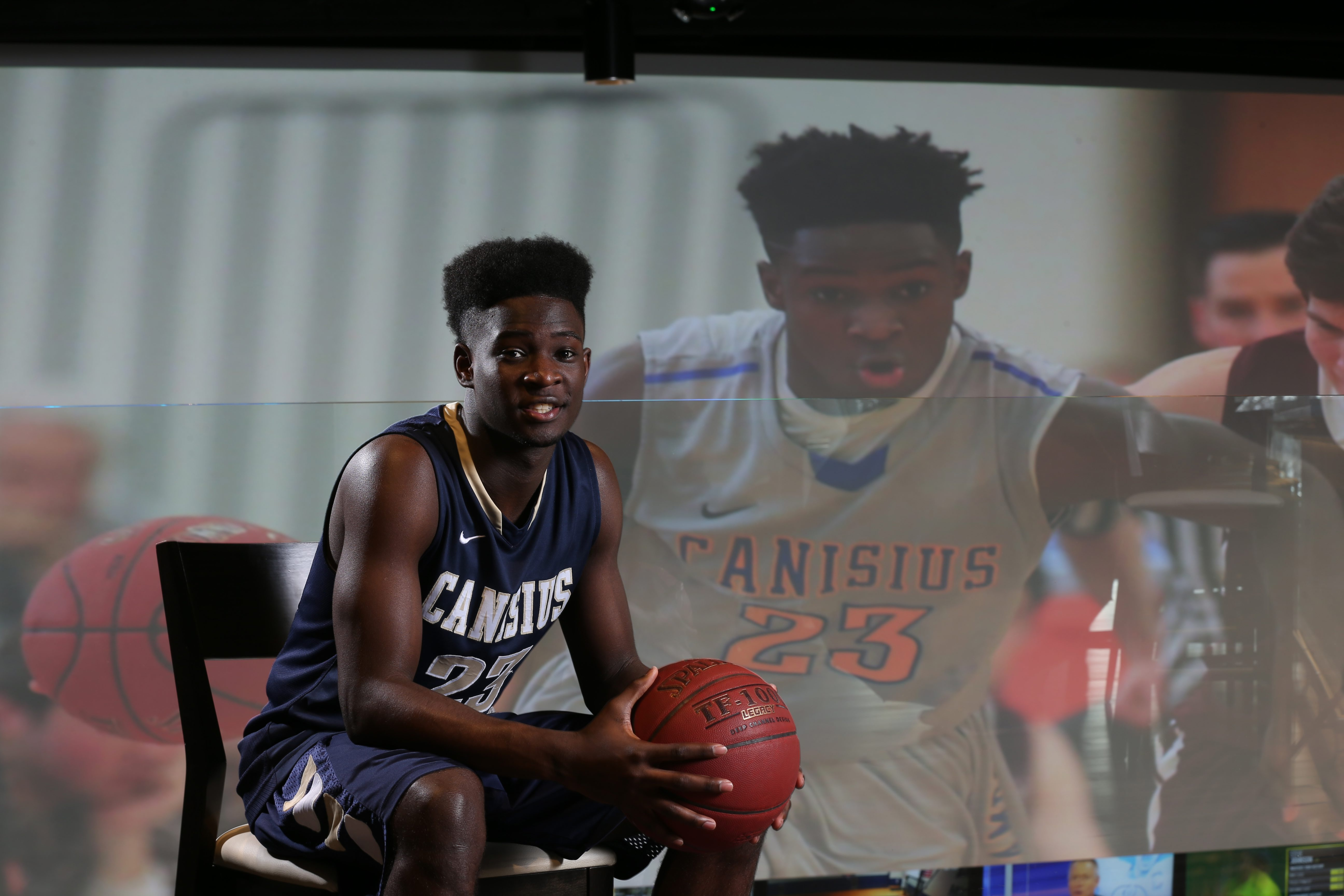 LaTerrance Reed at our All-Western New York first-team photo shoot at 716 Food & Sport. (James P. McCoy/ Buffalo News)