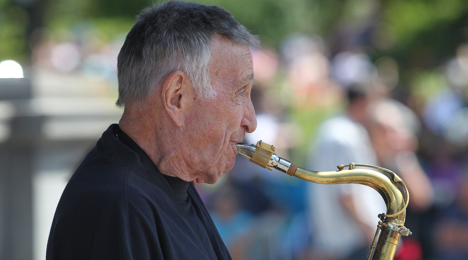 A large crowd showed up to hear the music of Don Rice at Jazz at the Albright-Knox. (Sharon Cantillon/Buffalo News file photo)
