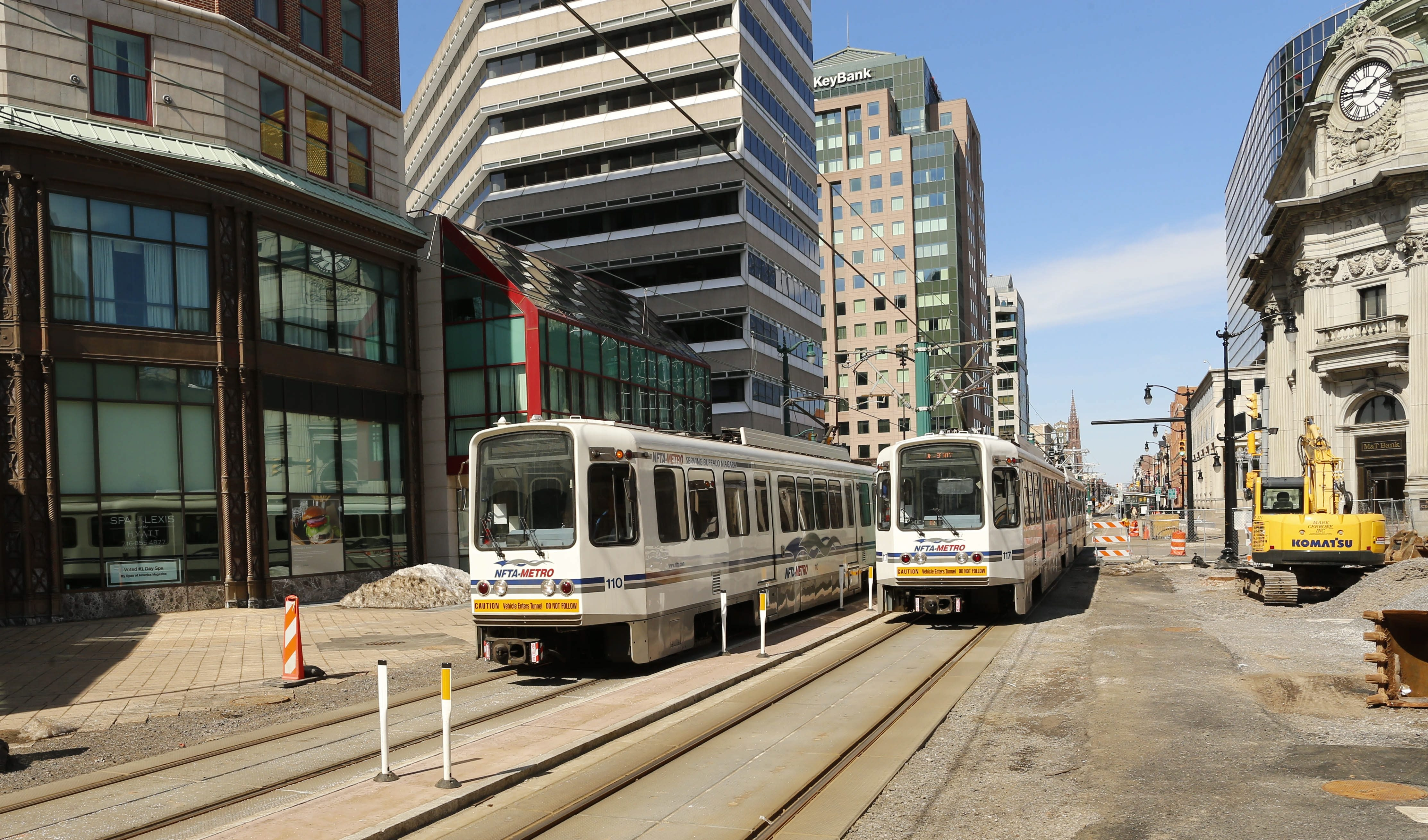 As Main Street improvements are continuing for compatible rail and car traffic, Buffalo Place hopes for $500,000 more from state.