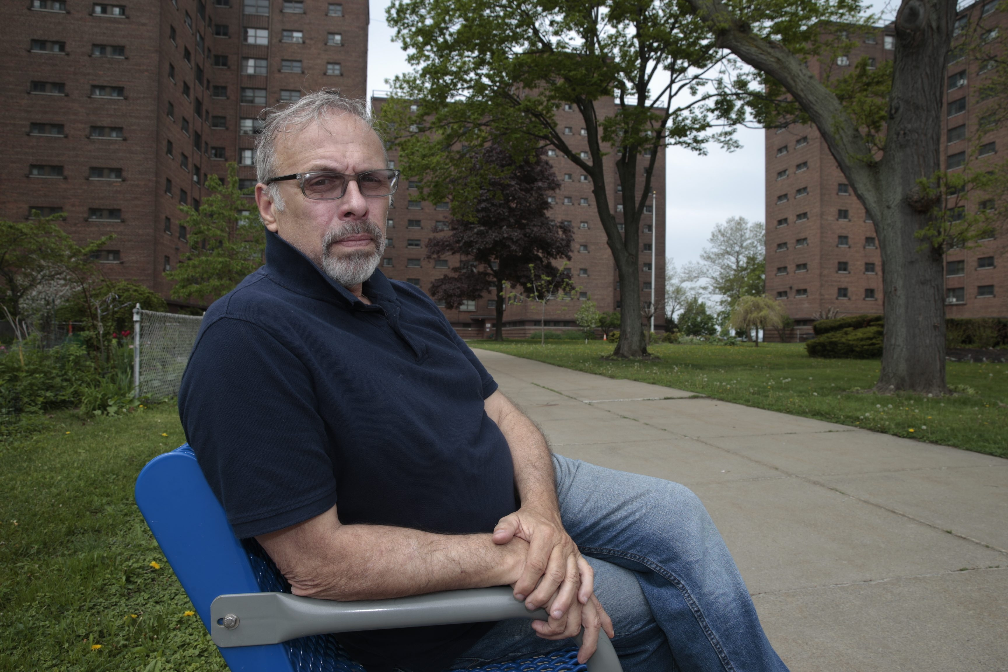 Joseph A. Mascia says he moved out of a home he owned and into the low-income Marine Drive Apartments  in the late 1990s, after  he suffered a financial setback in his concrete business and was injured in a car accident.