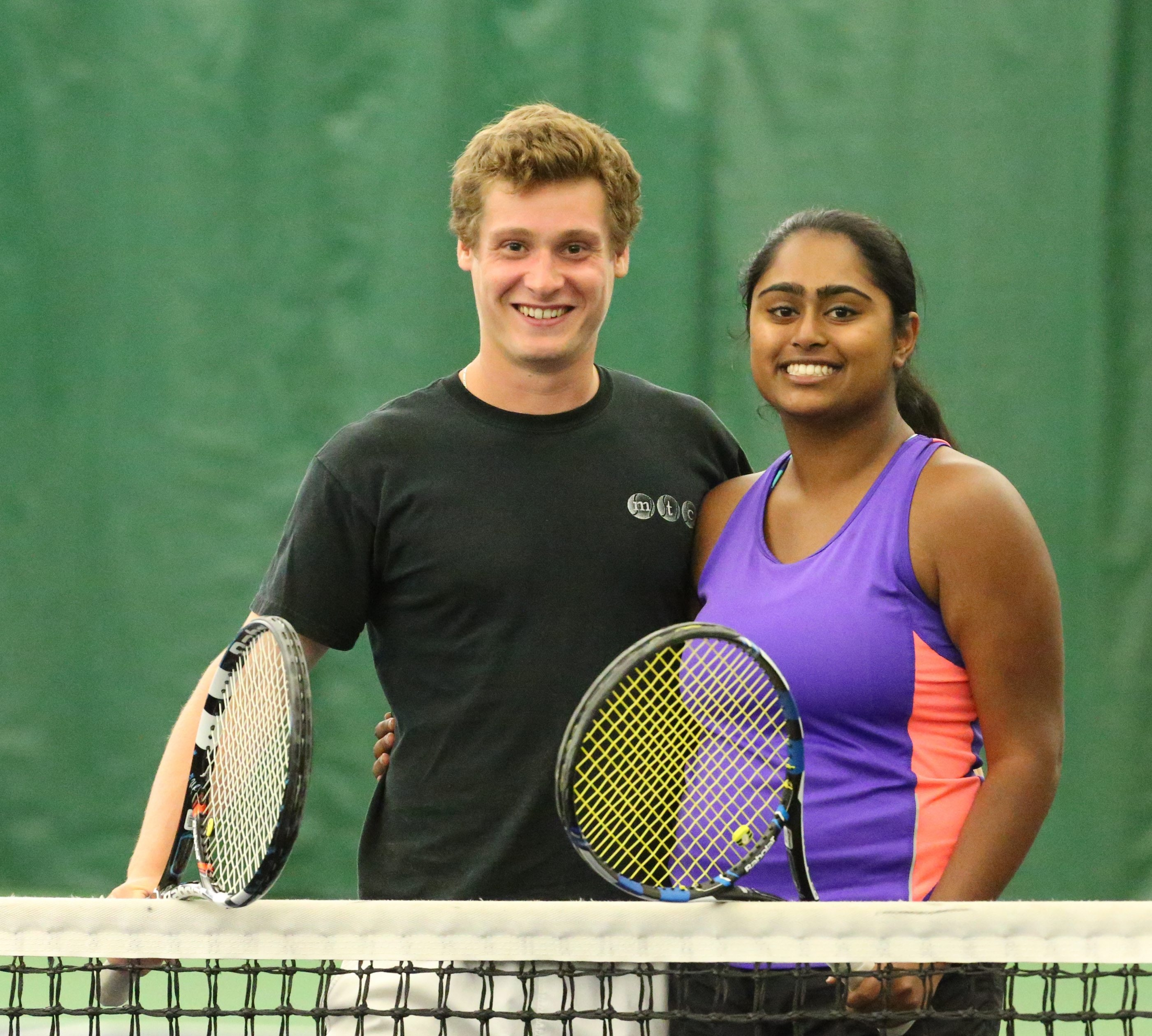 Jonah Epstein of Skidmore College is Muny singles champ along with Disha Yellayi, who is headed to Hofstra. Both attended Nichols School.