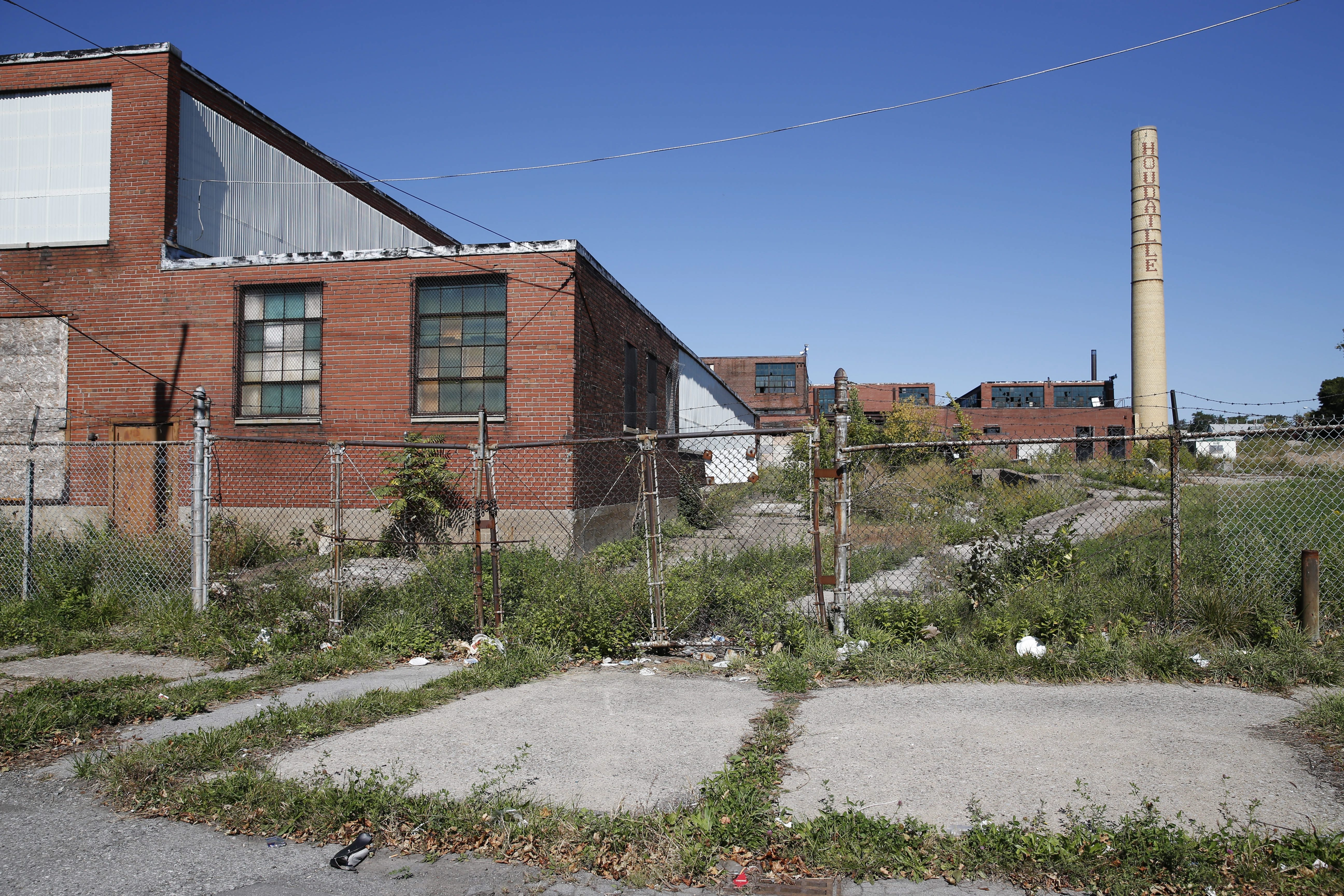 A vacant industrial complex on Northland Avenue in the area where the city plans to build a center of industrial businesses. That plan will be slowed by recent environmental review discoveries.