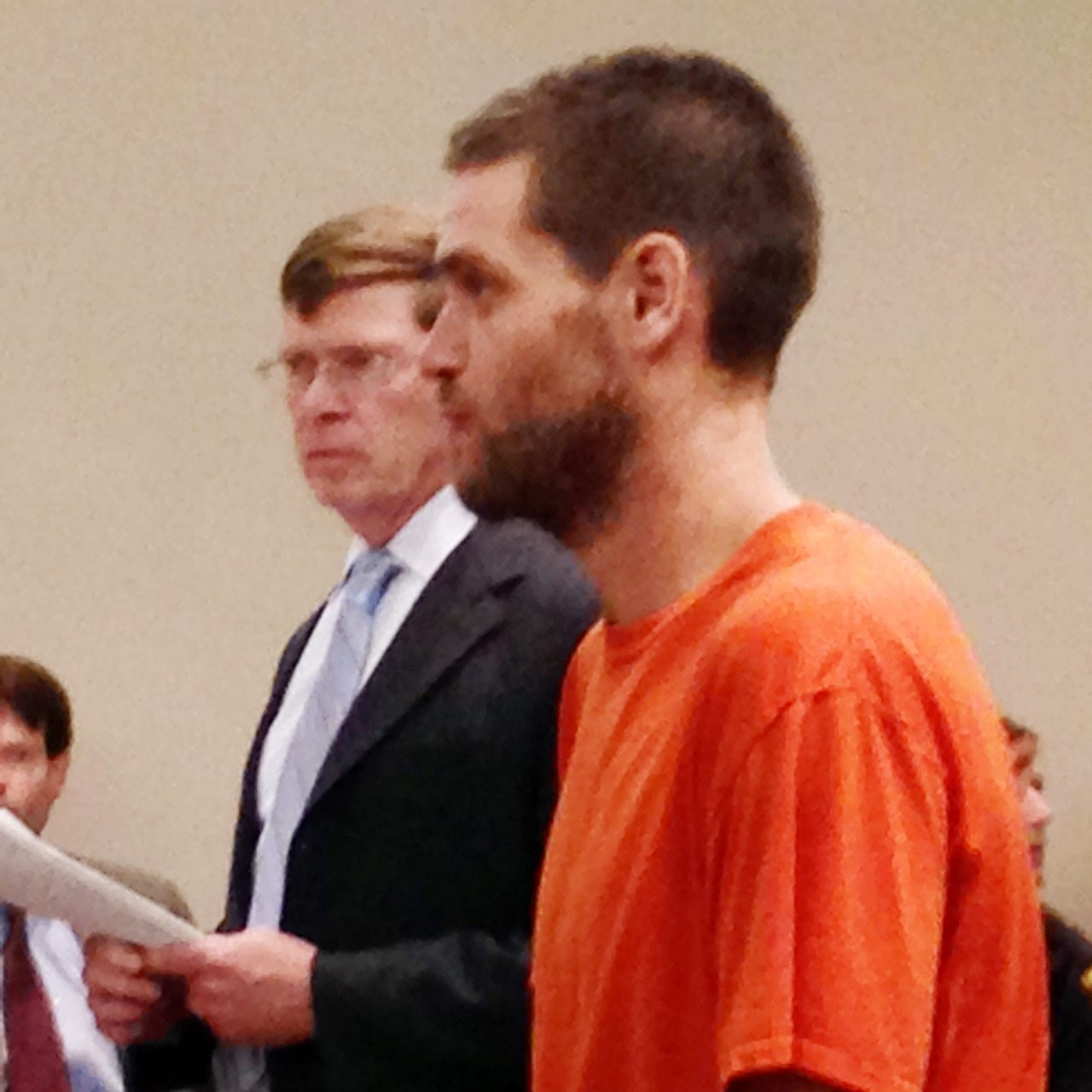 Michael Healing appears with ADA Ray Herman in City Court Tuesday.