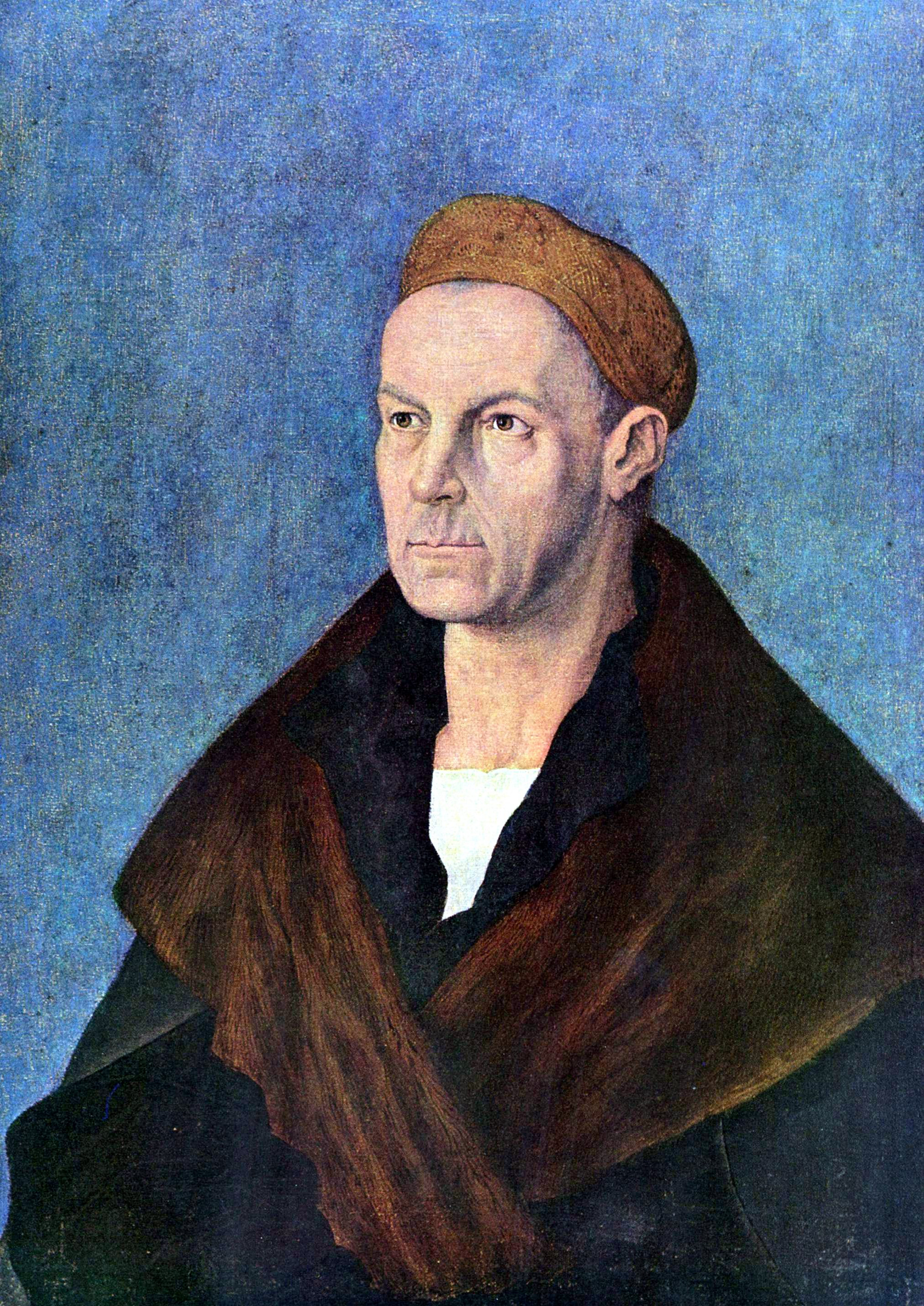 Albrecht Durer painted this portrait of Jacob Fugger, whose fortune equaled an estimated 2 percent of the GPS of all of Europe in the year 1600.
