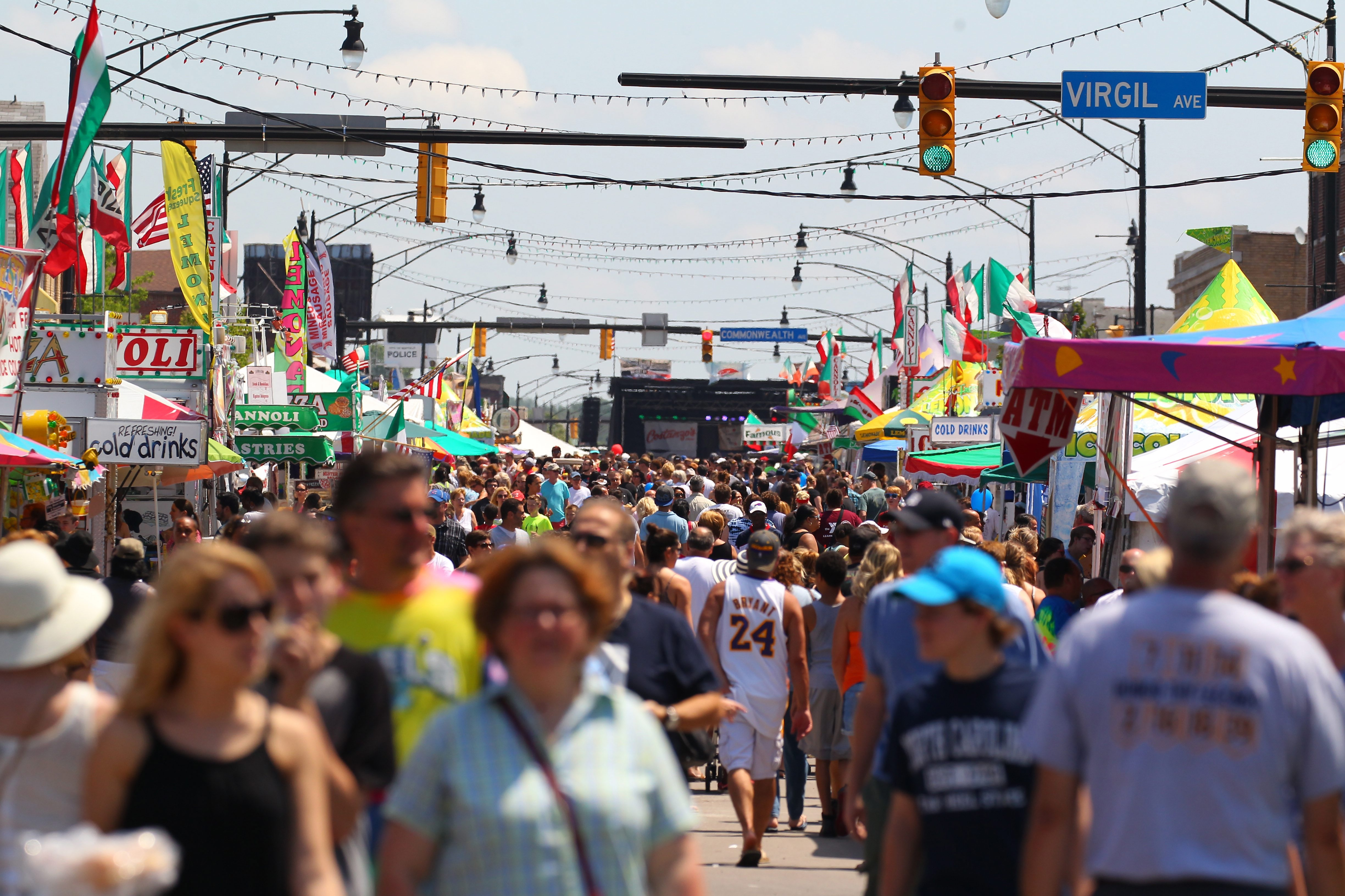 People pack Hertel Avenue during the Galbani Buffalo Italian Heritage Festival on a hot, humid Sunday, the festival's last day.