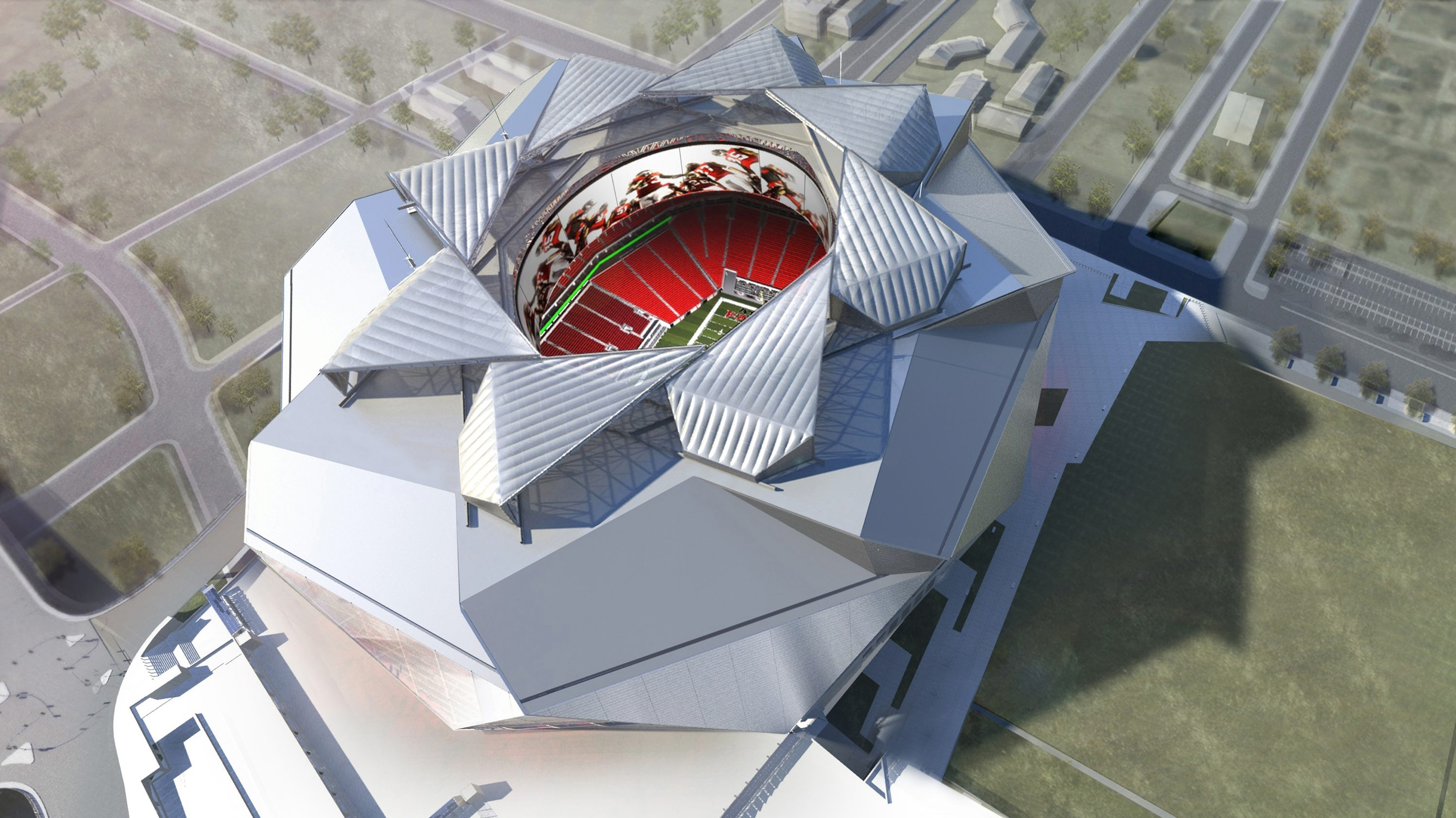 Retractable roof for new Atlanta stadium designed by Amherst-based Birdair.