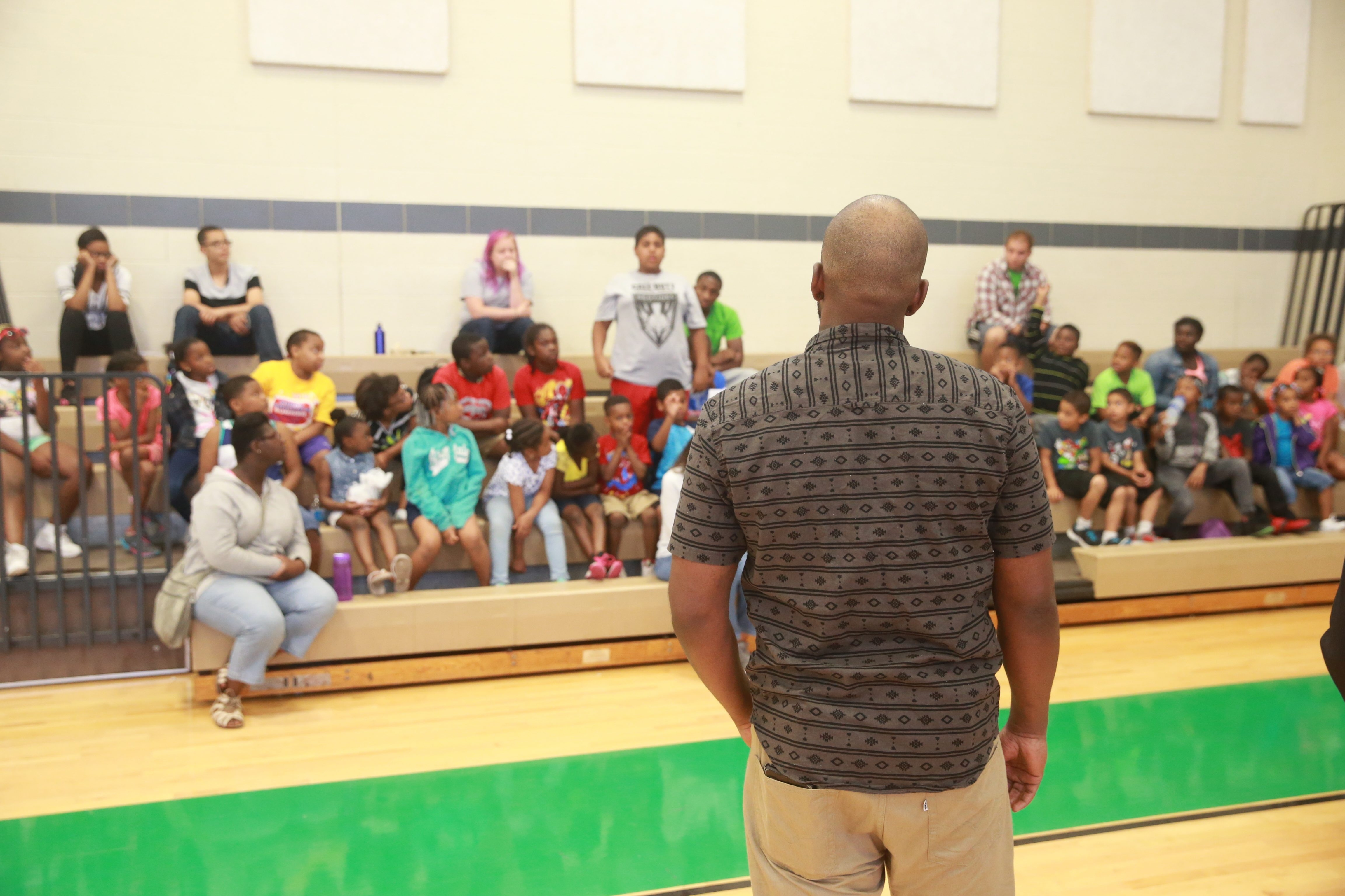 At Delavan-Grider Community Center, kids at summer camp hear from a former Schuele Boys associate about not repeating his mistakes.