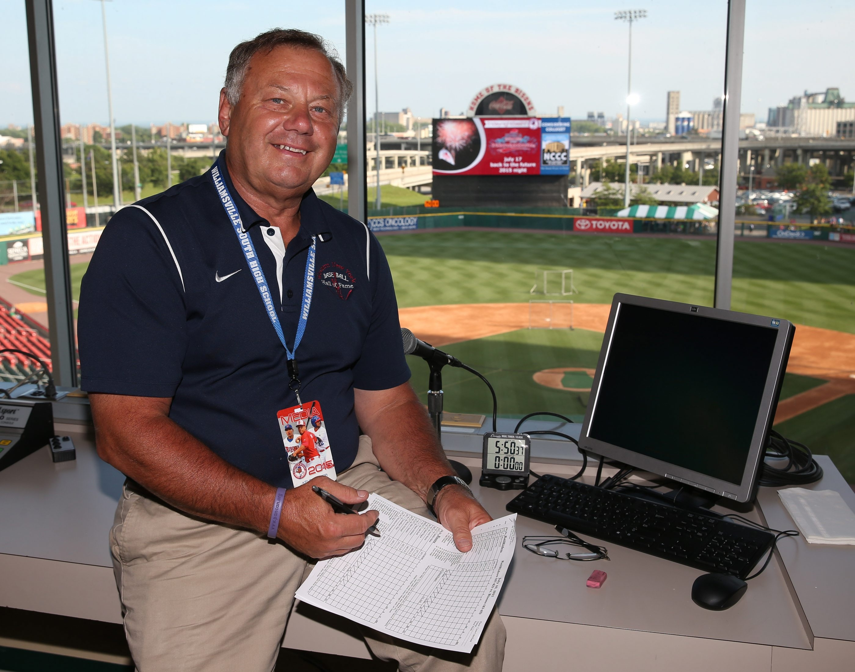 Kevin Lester has been a constant presence in the Bisons' press box over the years, mostly in the role of official scorer. Soon he can call himself a Hall of Famer.