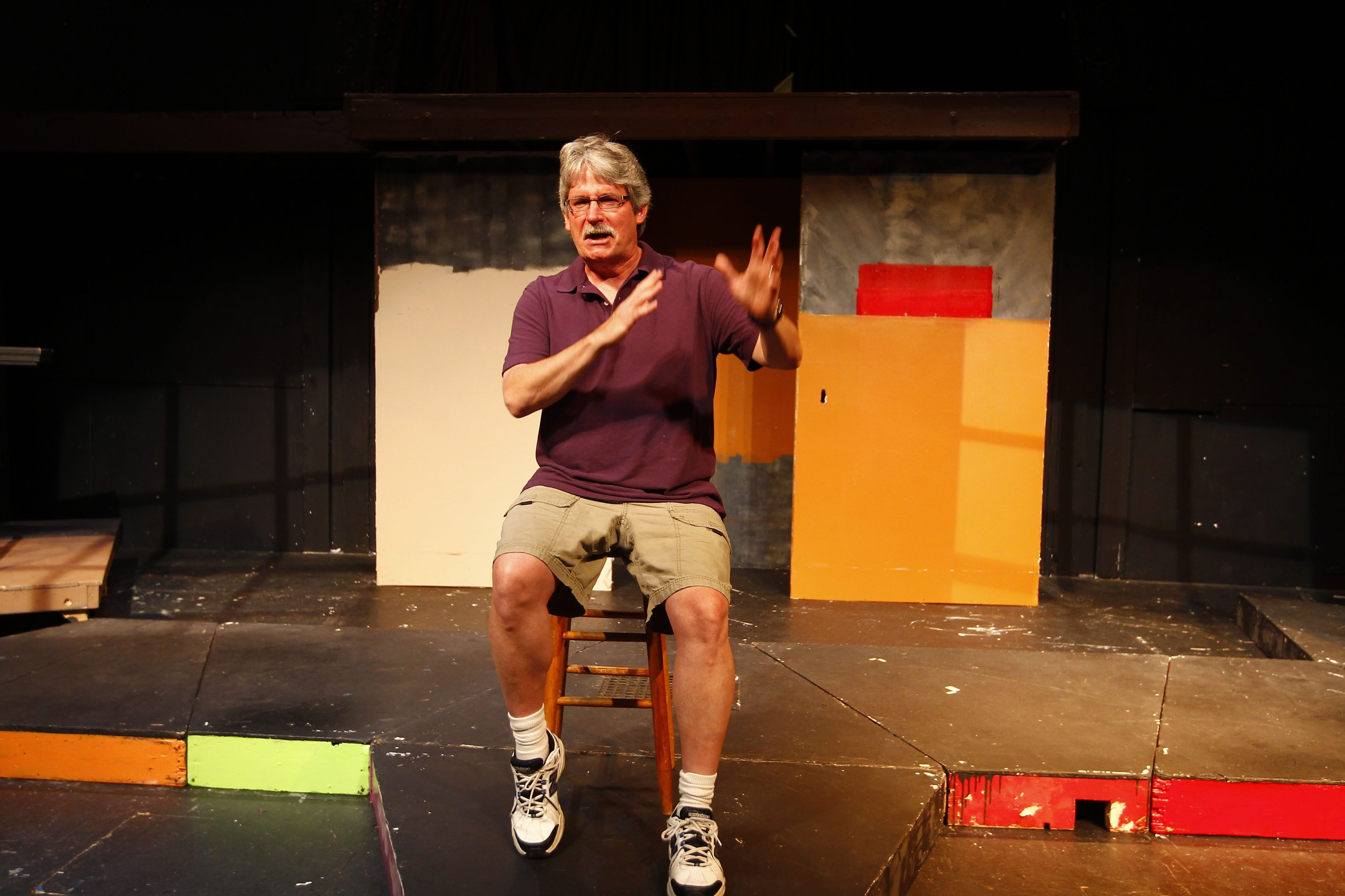 L. Don Swartz, director of Starry Night Theatre troupe in the Ghostlight Theatre, has been entertaining fans for more than 30 years with plays set in the Buffalo area.