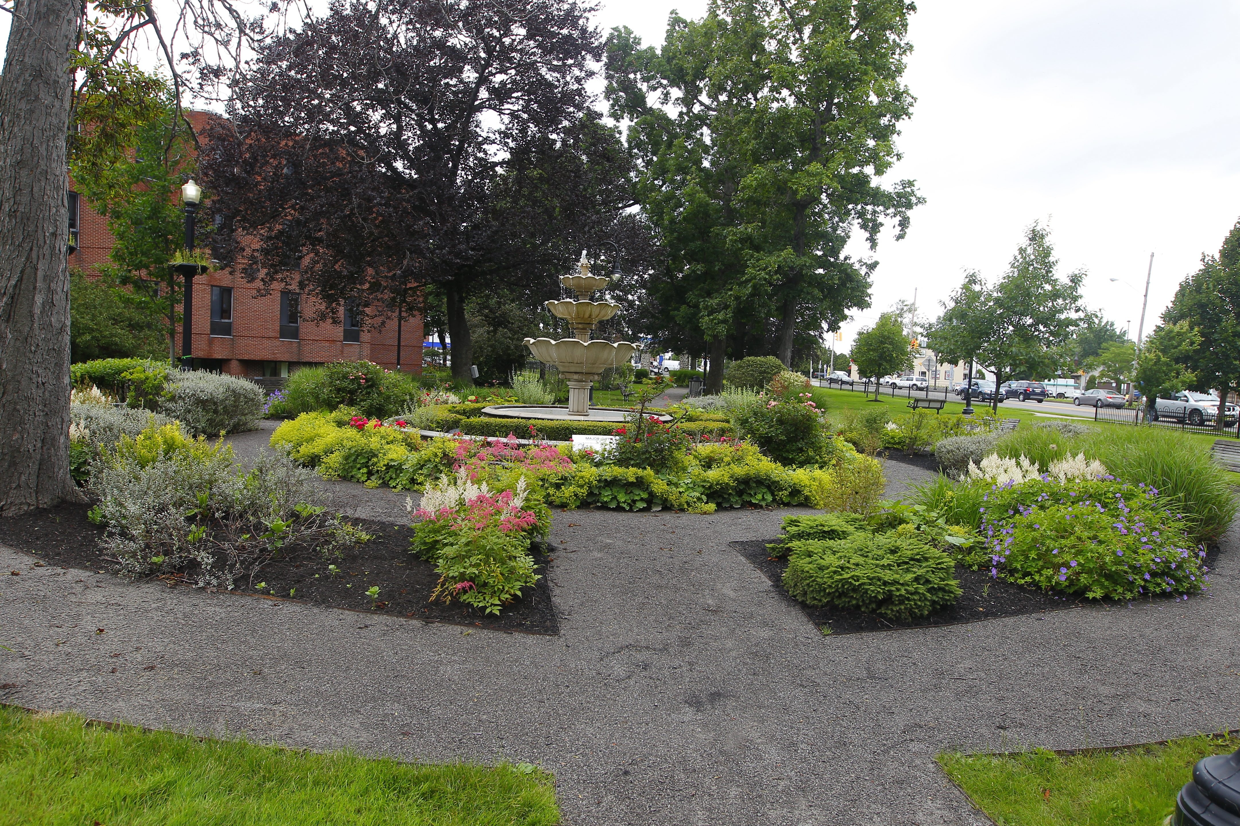 The gardens at Schoellkopf Park, on Portage Road between Pine and Walnut avenues, which were restored about seven years ago. Landscape architect Joy Kuebler will lead tours of the park Saturday.