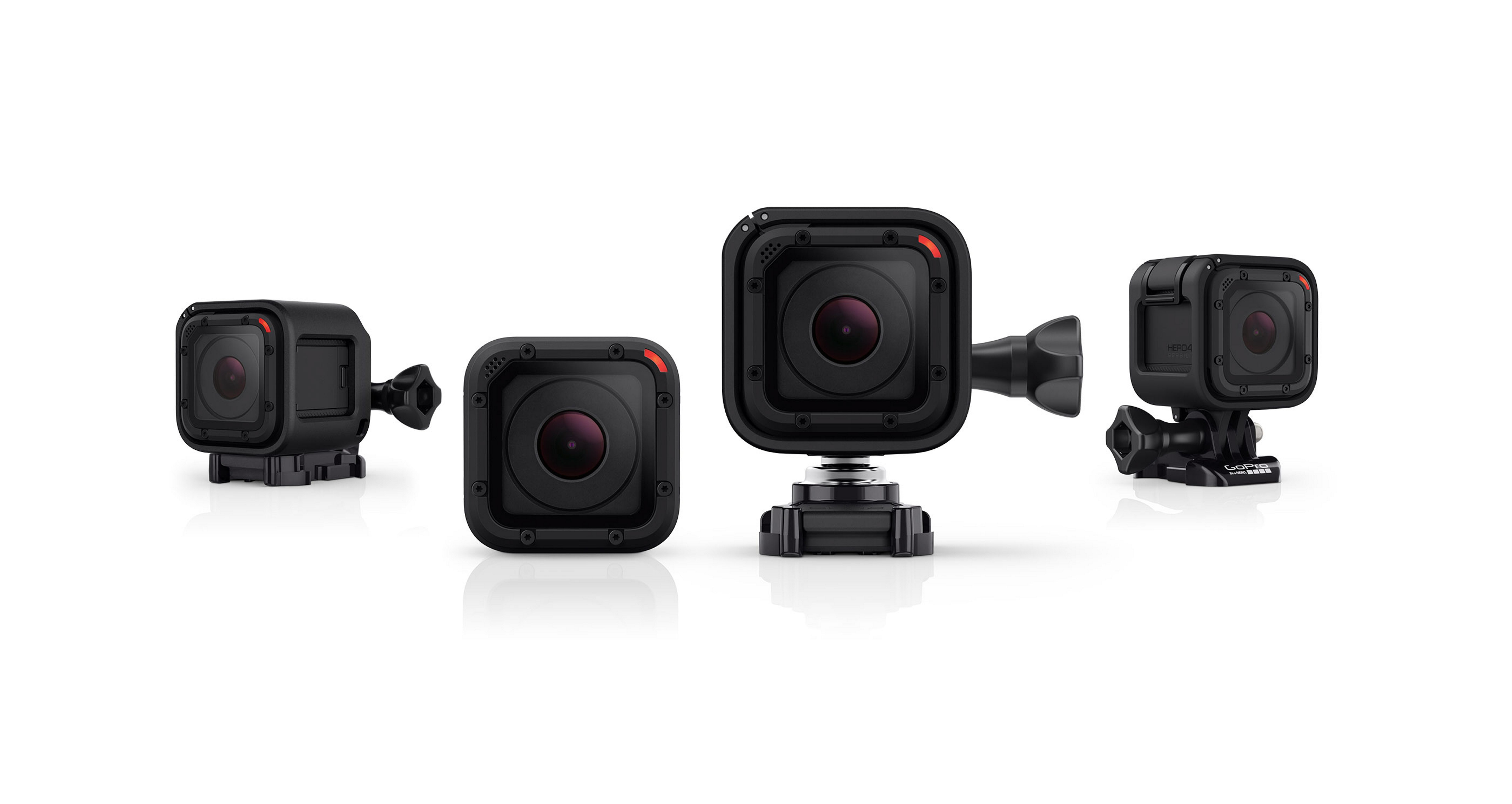 The Hero4 Session is lighter and smaller than GoPro's Hero4 Black and Silver models.