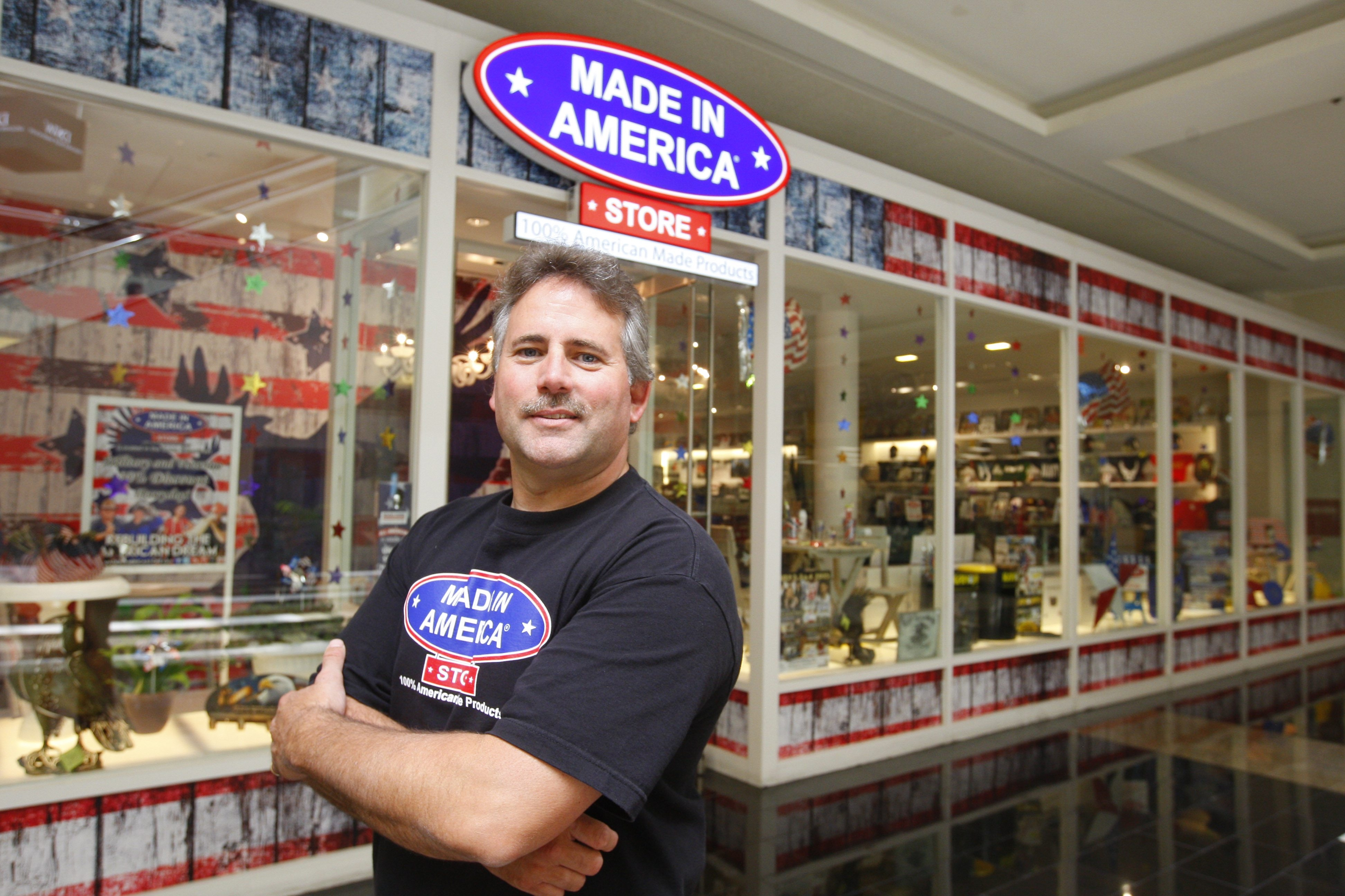 Made in America store owner Mark Andol is proud of his stores, which are located in the Walden Galleria in Cheektowaga (shown), Elma, Eastern Hills and McKinley malls, and the One Niagara center in Niagara Falls.