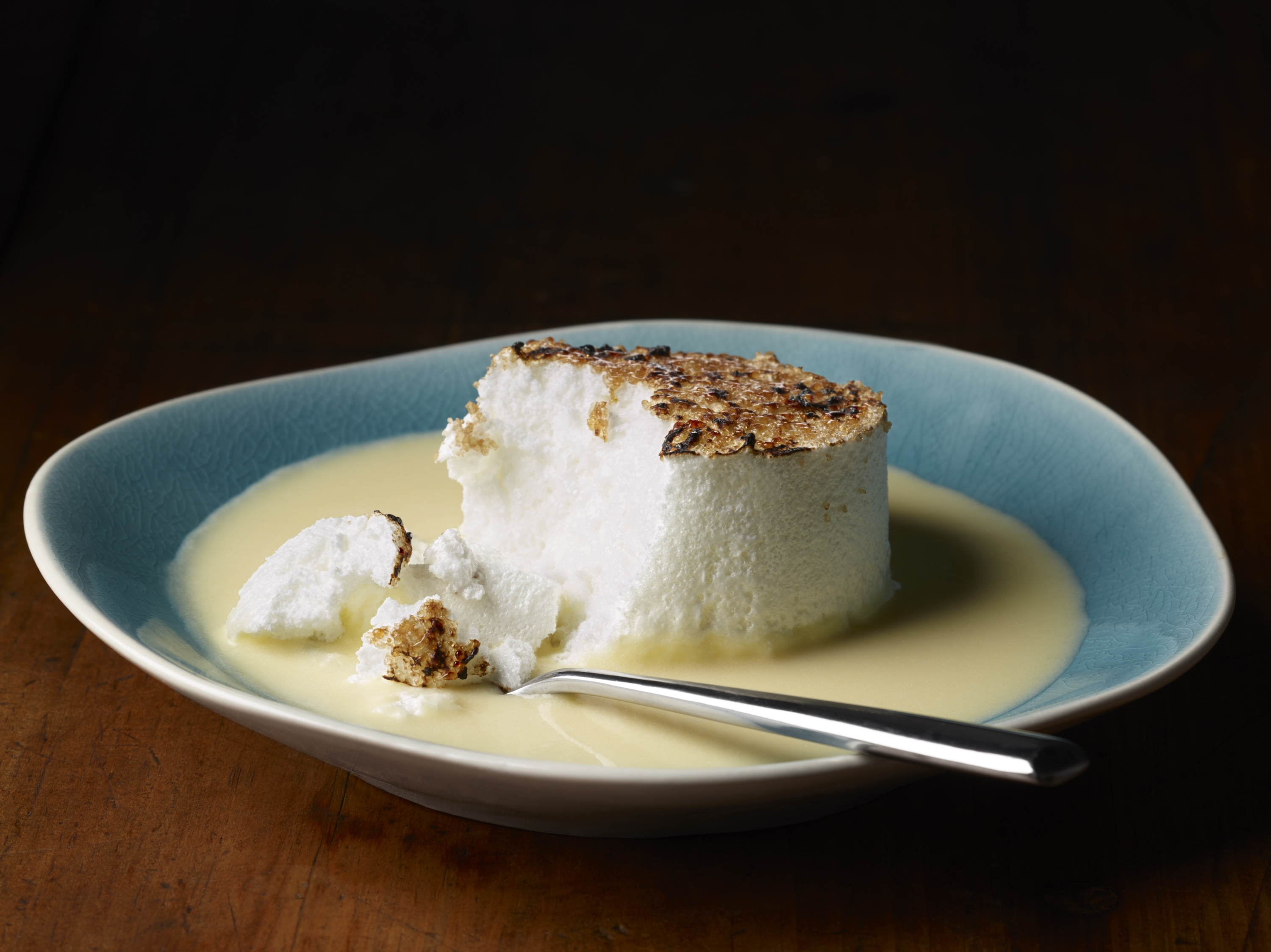 Et Voila! chef Claudio Pirollo has re-engineered the recipe for floating islands dessert.