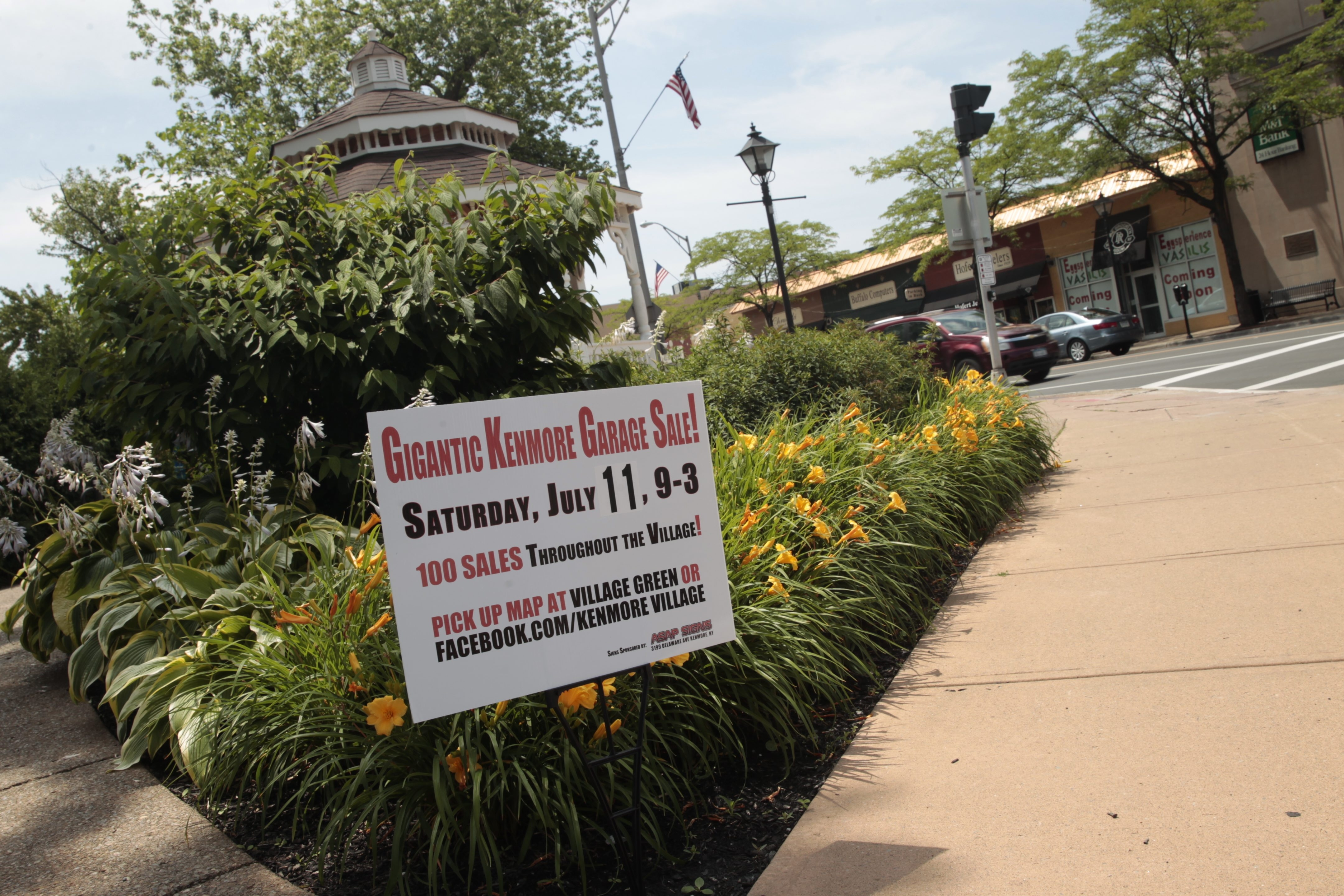 The Kenmore Village Improvement Society is holding its second Gigantic Kenmore Garage Sale on Saturday. It will include a treasure hunt with clues and a video booth for people to share their finds.