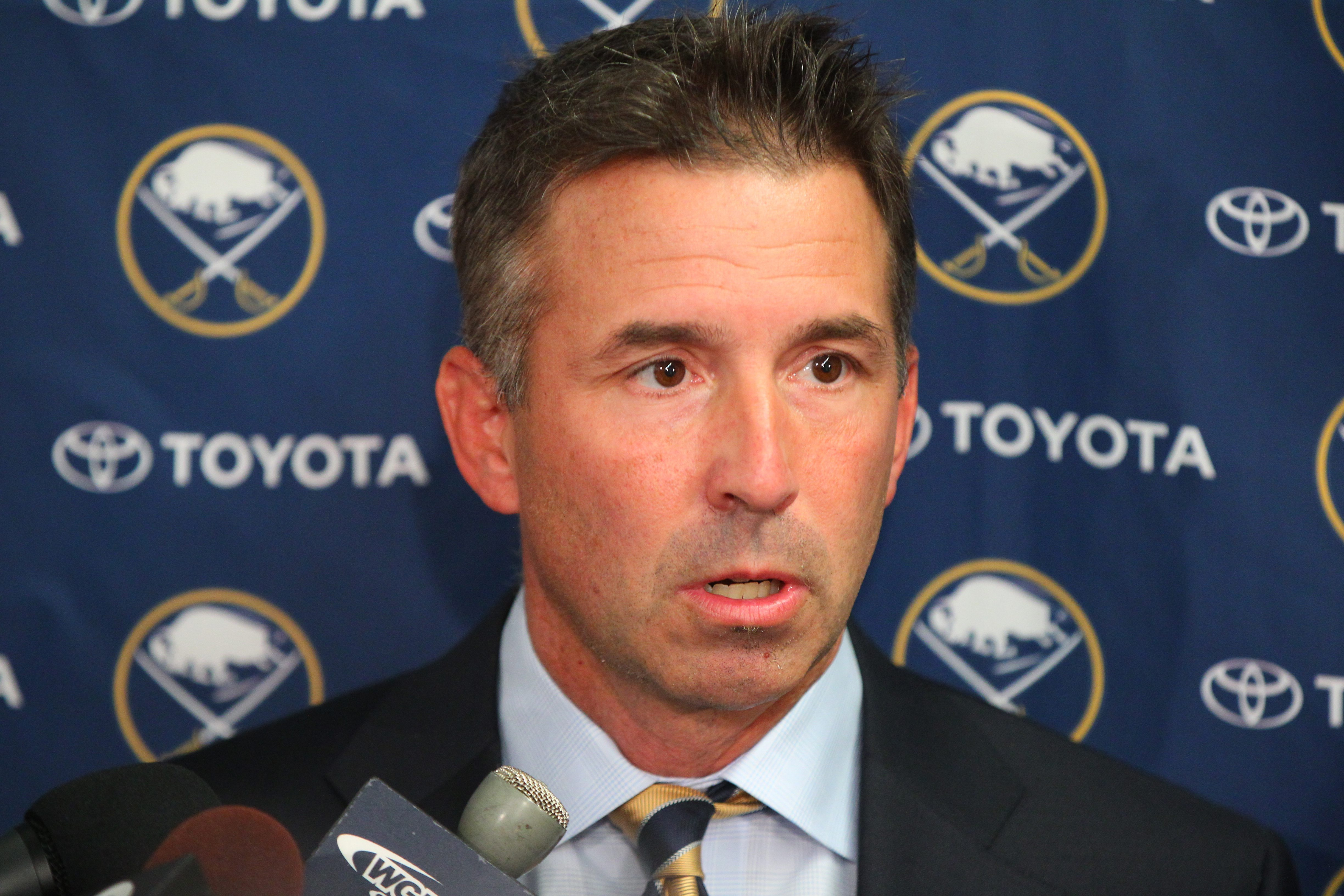 Russ Brandon will now serve as team president of both the Buffalo Bills and the Sabres.