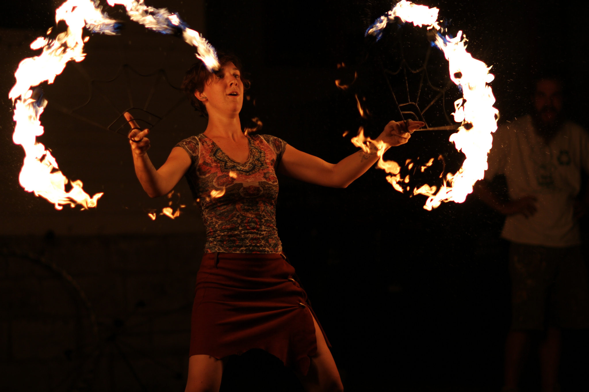 A fire dancer performs during the 2012 Buffalo Infringement Festival. (Photo by Dave Pape)