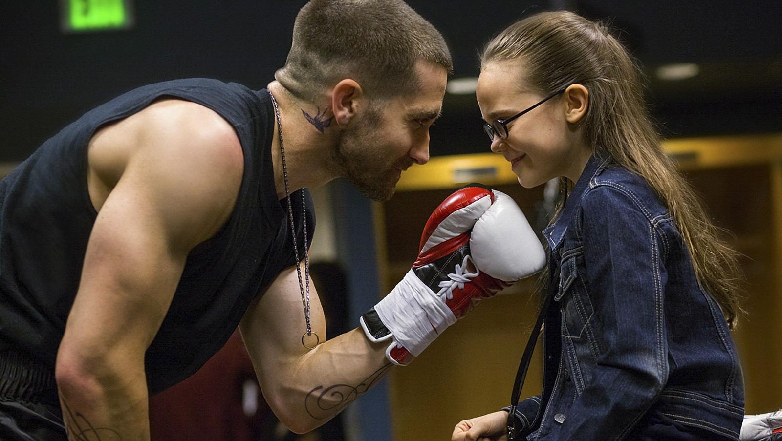 Jake Gyllenhaal and Oona Laurence star in in 'Southpaw,' one of Jeff Simon's five recommendations for the weekend. (Scott Garfield/The Weinstein Company)