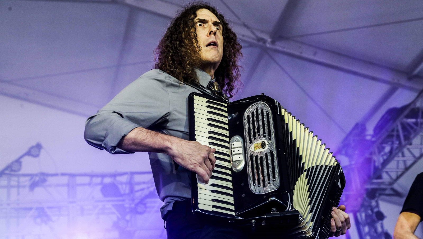 'Weird Al' Yankovic, pictured performing at the Governor's Ball in New York, hit the University at Buffalo Center for the Arts on Wednesday. (Krista Schlueter/The New York Times)