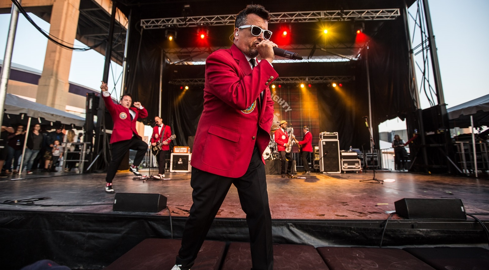 The Mighty Mighty Bosstones' lead vocalist, Dicky Barrett, led the charge on Thursday night in Buffalo. (Chuck Alaimo/Special to The News)