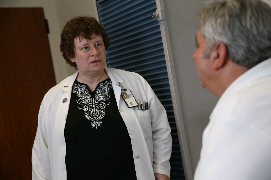 Veterans Affairs Medical Center Chief of Endocrinology Dr. Amy O'Donnell treats patients with diabetes, thyroid problems and low testosterone, as well as other hormonal imbalances. (Sharon Cantillon/Buffalo News)