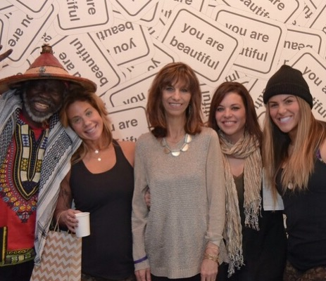 Rosalyn Killinger, center, photographed earlier this year at HEAL Bflo, was among those who enjoyed the yoga retreat along with, from left, Mbayerama Diagne, Cheryl Scheff, daughter Jennifer Killinger and niece Jocelyn Kowalczyk. Heal Bflo II takes place Sunday at Marcy Casino in Delaware Park.