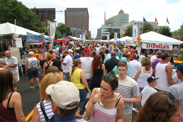 Each of the more than 50 food vendors at this weekend's Taste of Buffalo will be required to offer at least one healthy menu item. (Sharon Cantillon/Buffalo News file photo)