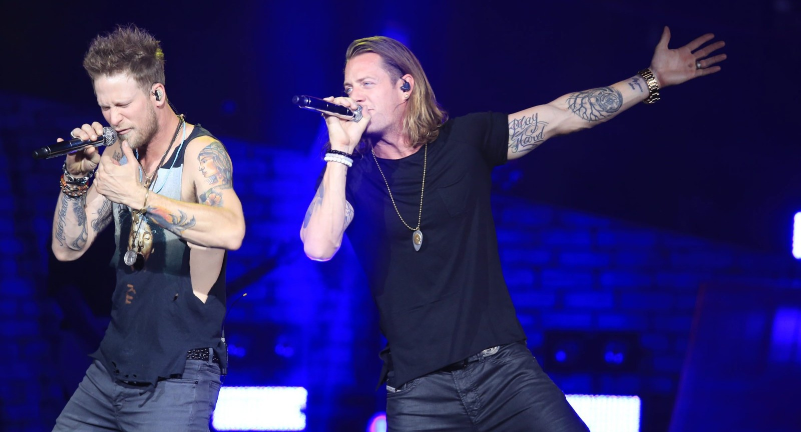 Florida Georgia Line – Tyler Hubbard and Brian Kelley – return for a show at Darien Lake Performing Arts Center. (Harry Scull Jr./Buffalo News file photo)