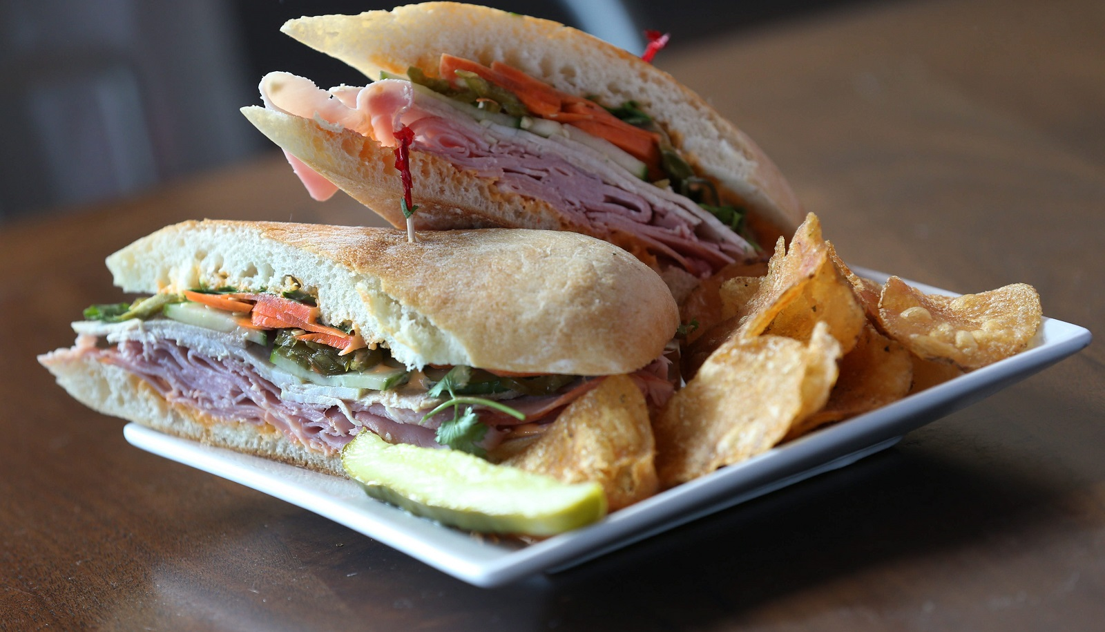 This is 'The Body' sandwich from Joe's Deli at 534 Elmwood Ave. (Sharon Cantillon/Buffalo News)