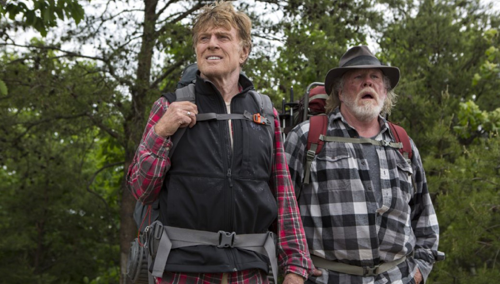 "Robert Redford, left, and Nick Nolte star in ""A Walk in the Woods."""