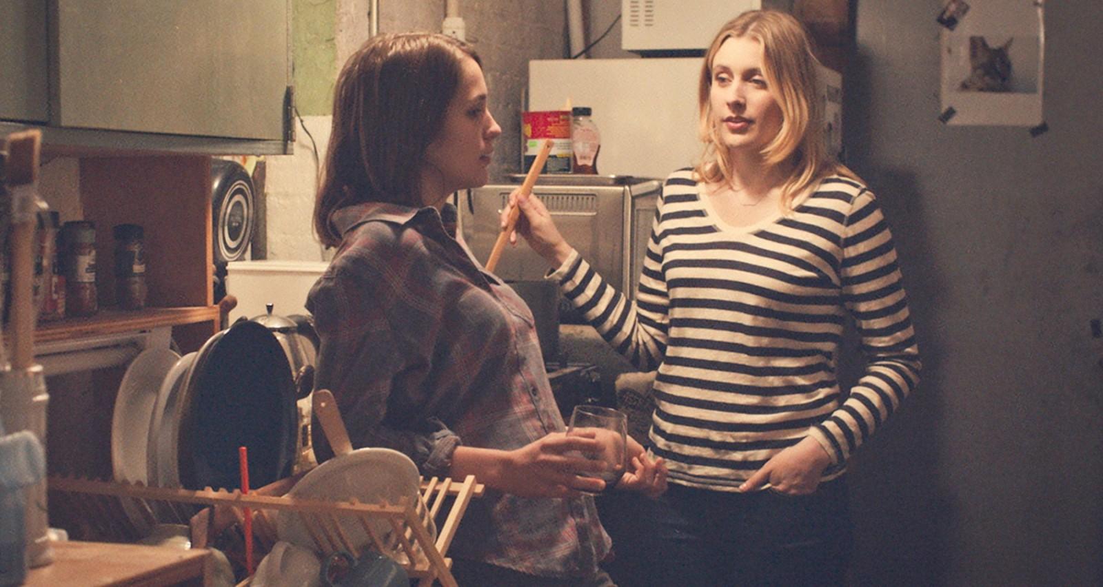"Lola Kirke, left, and Greta Gerwig star in ""Mistress America."""