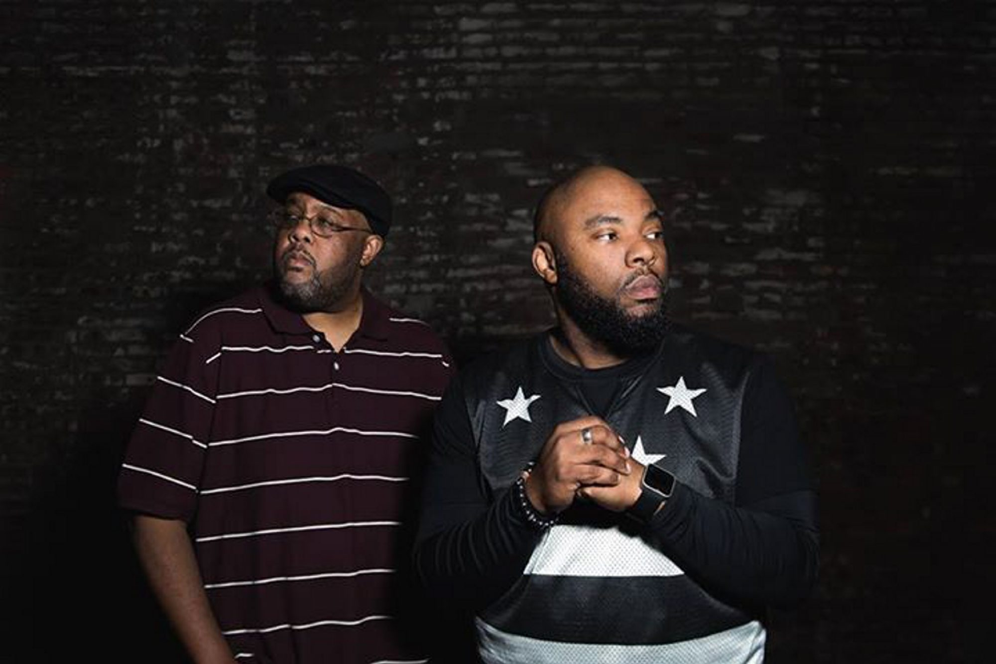 """Blackalicious – Gift of Gab, left, and Chief Xcel – have released """"Imani Vol. 1,"""" their first new album in a decade."""