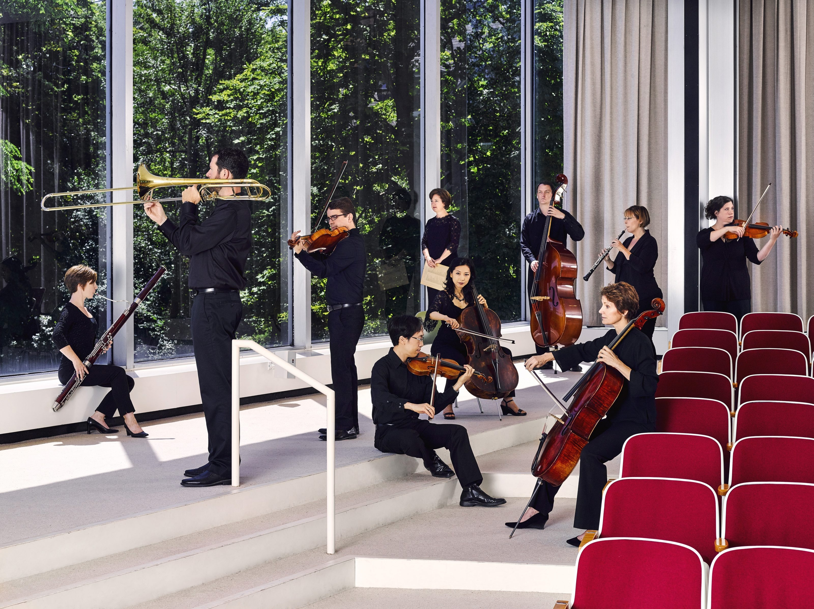 The Buffalo Chamber Players are in residence at the Albright-Knox Art Gallery. (Photo by Luke Copping)