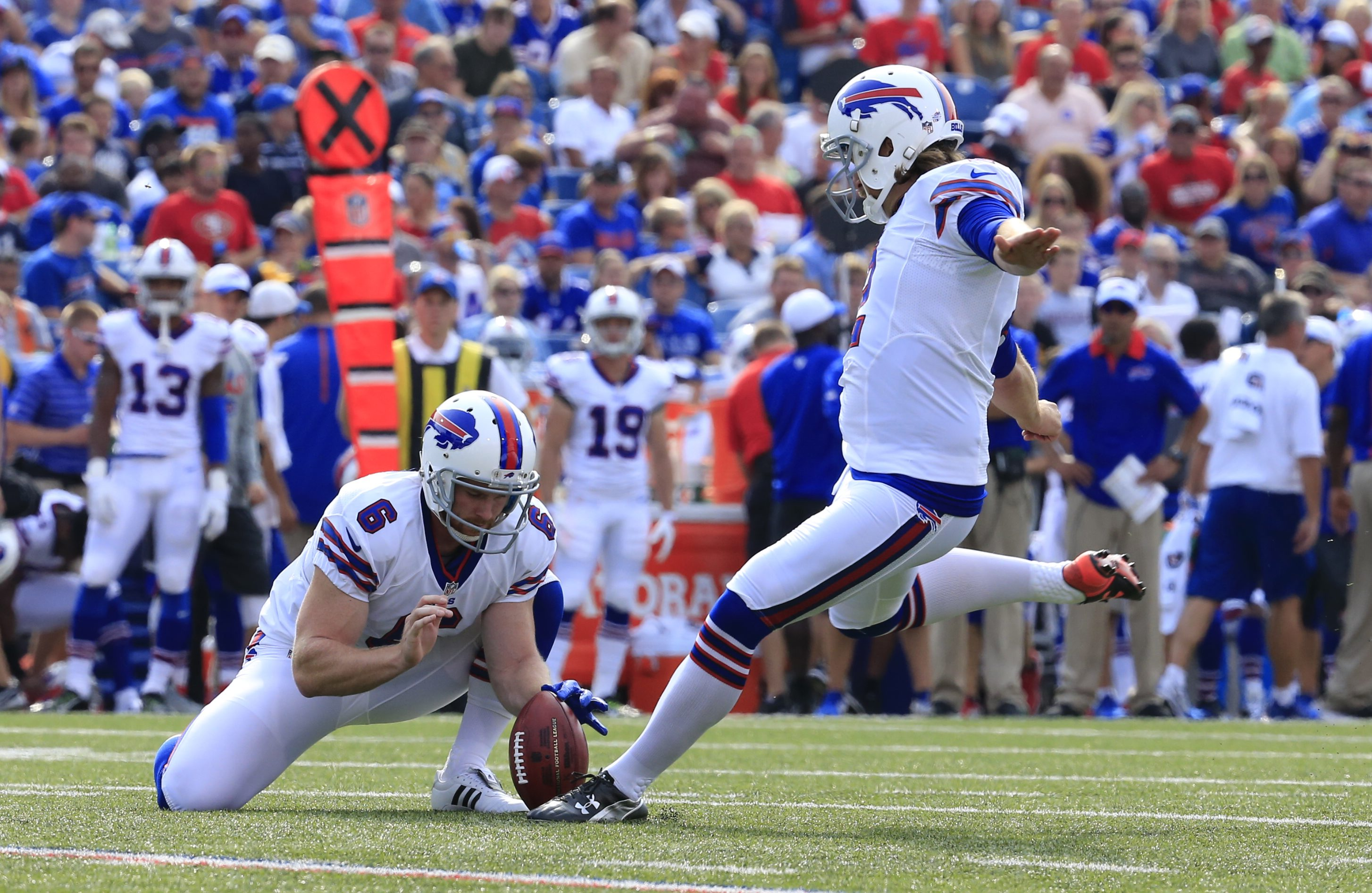 Dan Carpenter has missed two field goals and an extra point so far in the preseason.