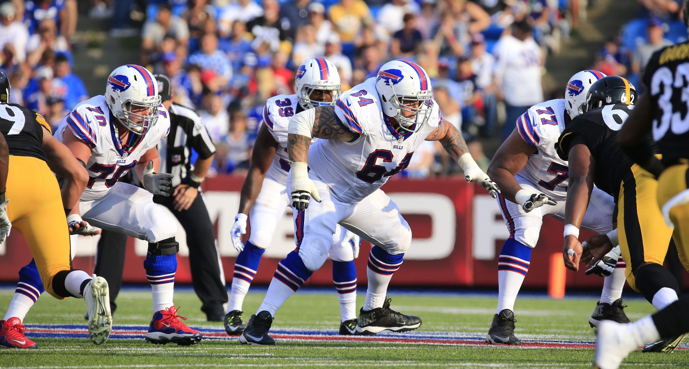 Eric Wood and Richie Incognito are two of the cogs on a retooled offensive line that's determined to craft a fearsome identity.