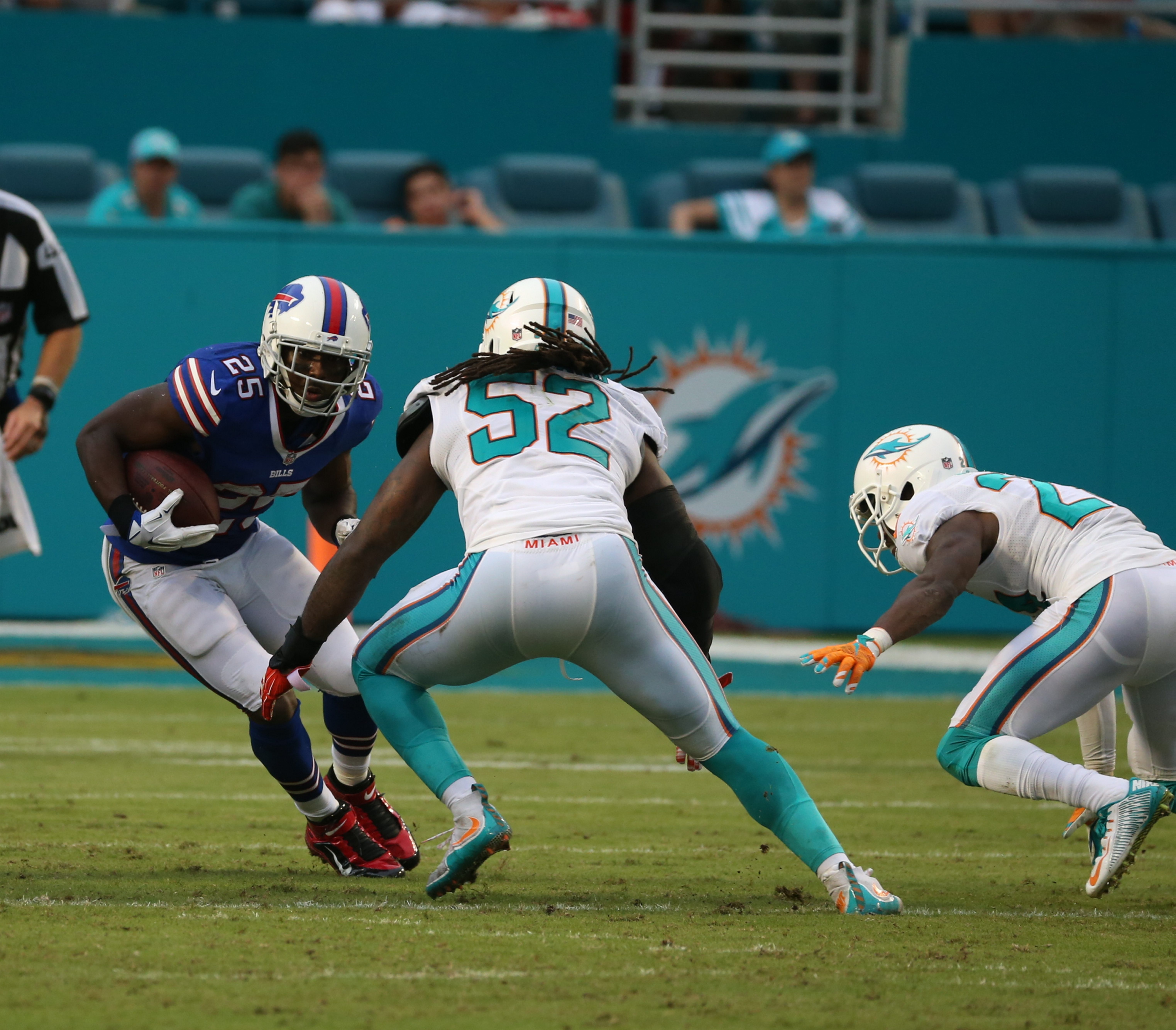 Running back LeSean McCoy didn't do much on the ground Sunday, but did haul in a touchdown reception.