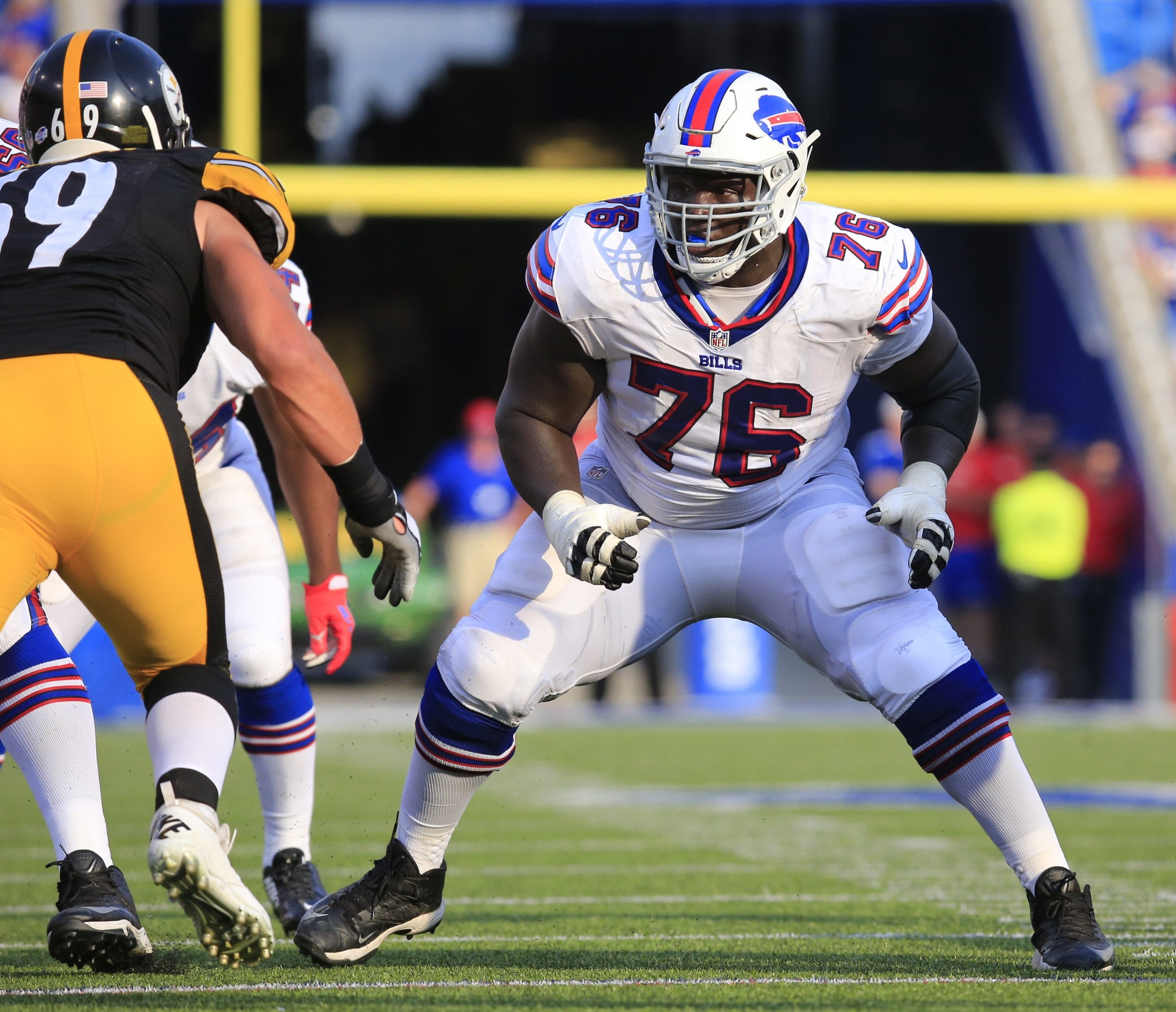 Buffalo Bills John Miller during second half action against the Pittsburgh Steelers at Ralph WIlson Stadium on Saturday, Aug. 29, 2015.  (Harry Scull Jr./Buffalo News)