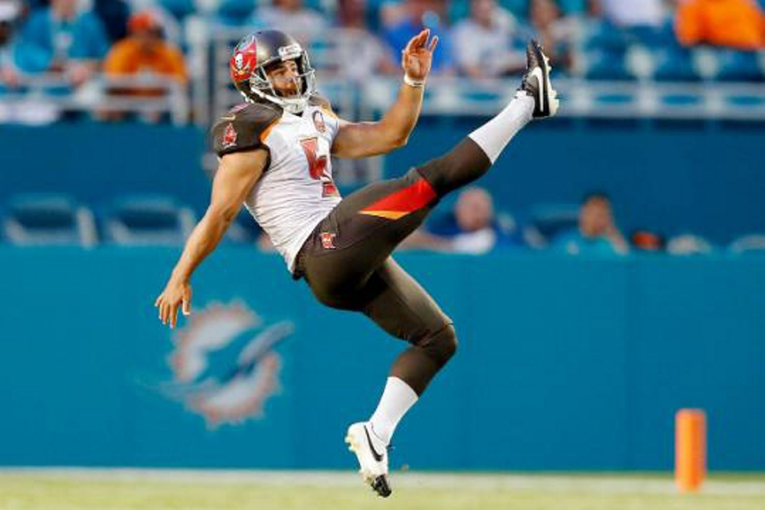 Jake Schum was the starting punter on the opening NFL Sunday for the Tampa Bay Buccaneers.