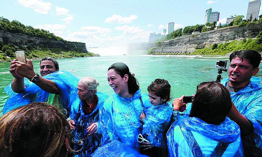 Riding the Maid of the Mist in Niagara Falls, N.Y., is one activity to extend the summer a little longer.  (Sharon Cantillon/Buffalo News)