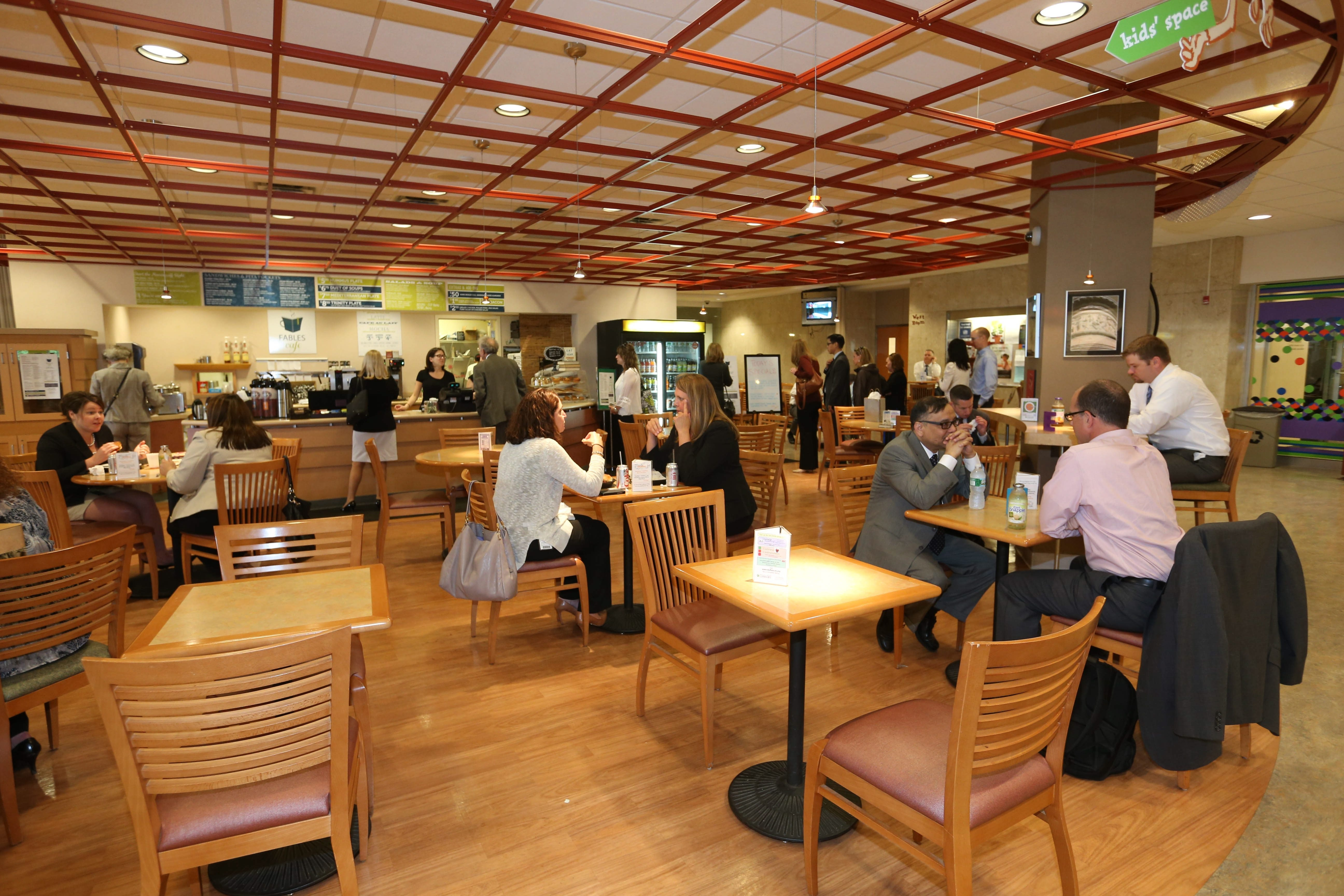 Fables Cafe, inside the Buffalo & Erie County Central Library in downtown Buffalo,is an attractive spot to grab a book and a bite.