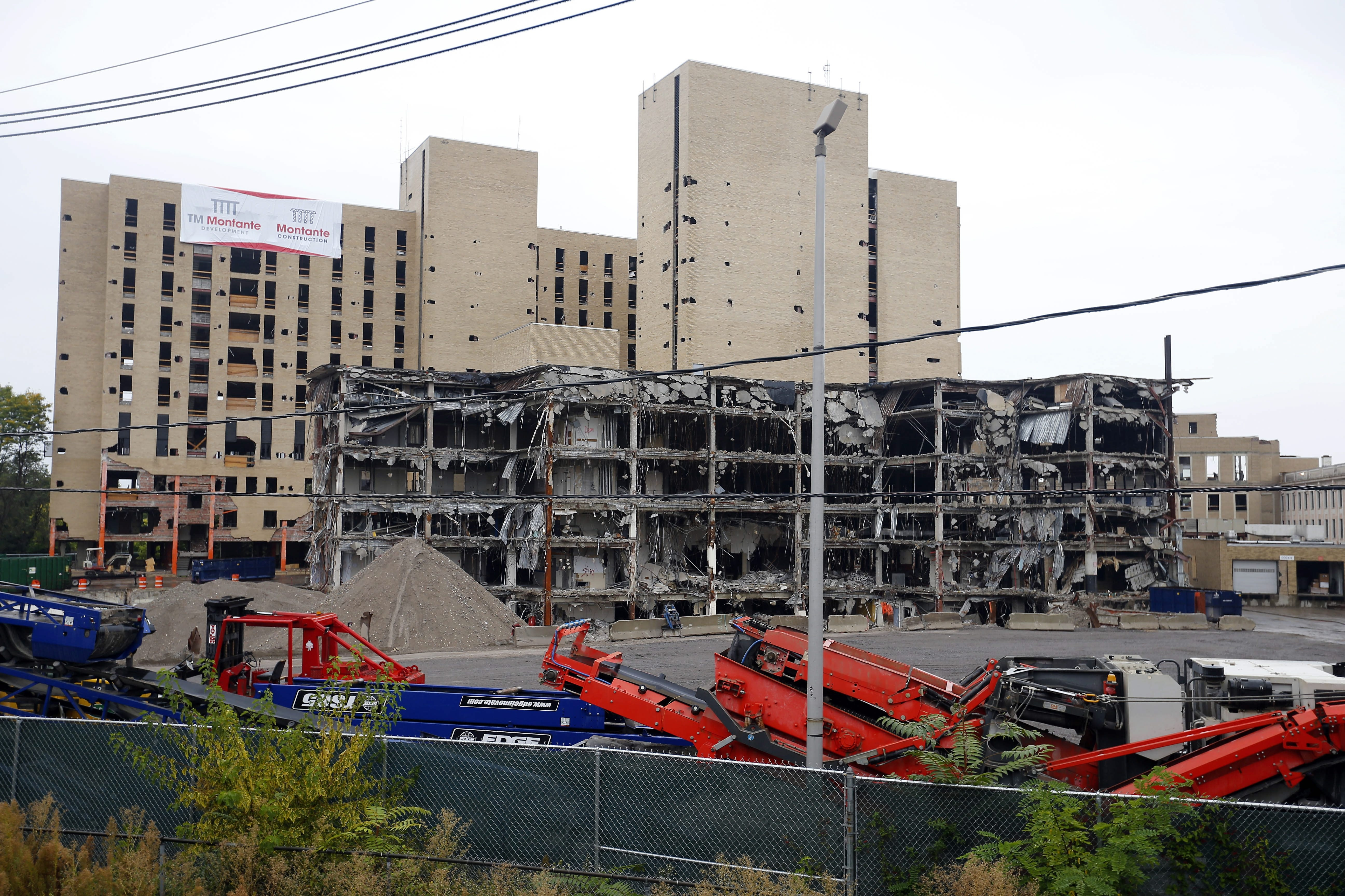 The gutted structure of  the former Millard Fillmore Gates Hospital will be reduced to rubble before dawn Saturday, an event that may attract hundreds of bystanders.