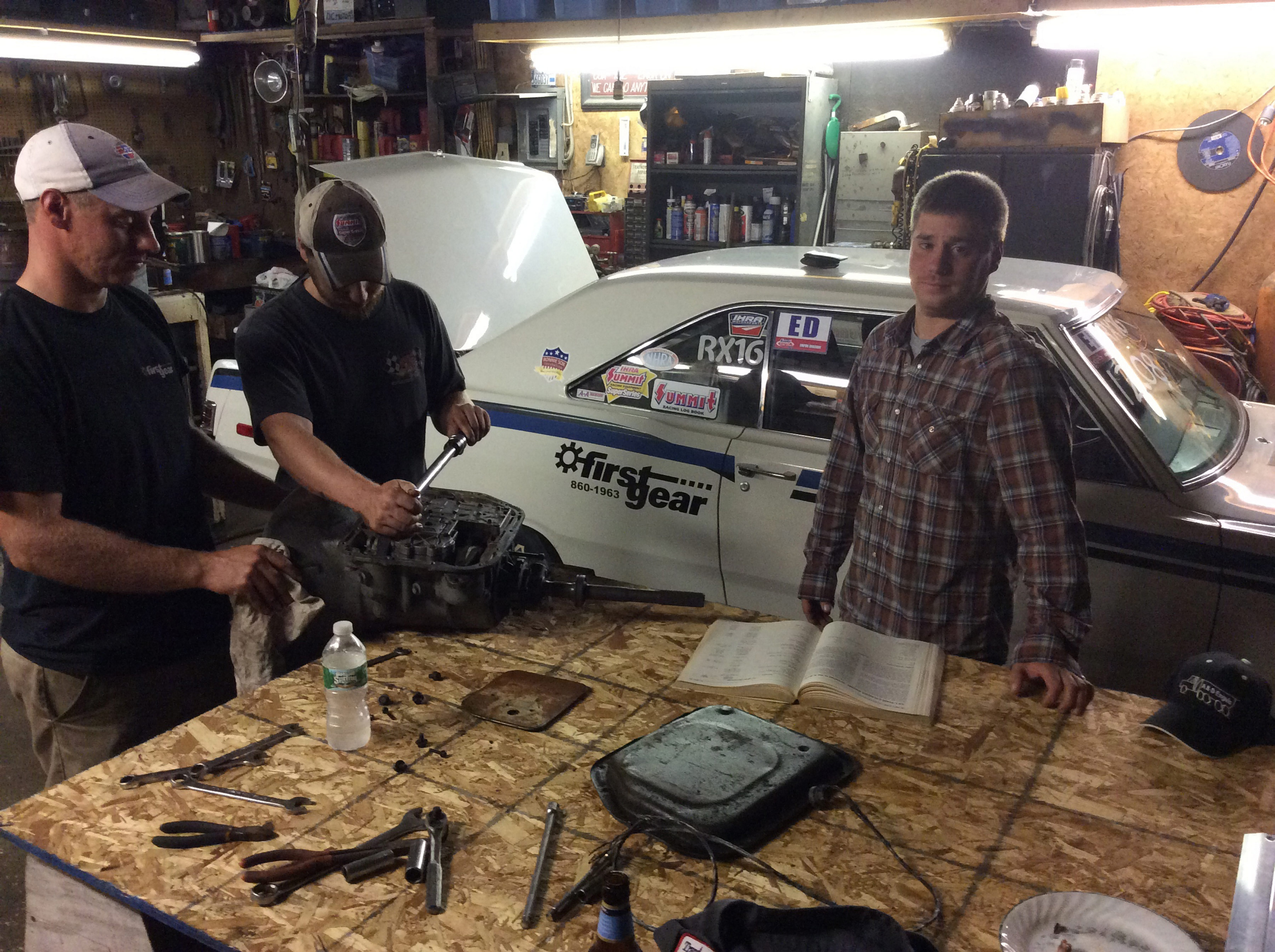 The Ricketson brothers, from left, Clay, Reid and Ryan, have recorded victories in eight of 13 drag racing nights at Lancaster National Speedway and Dragway. They say they help each other and work on their cars together at their parents' house in Marilla.