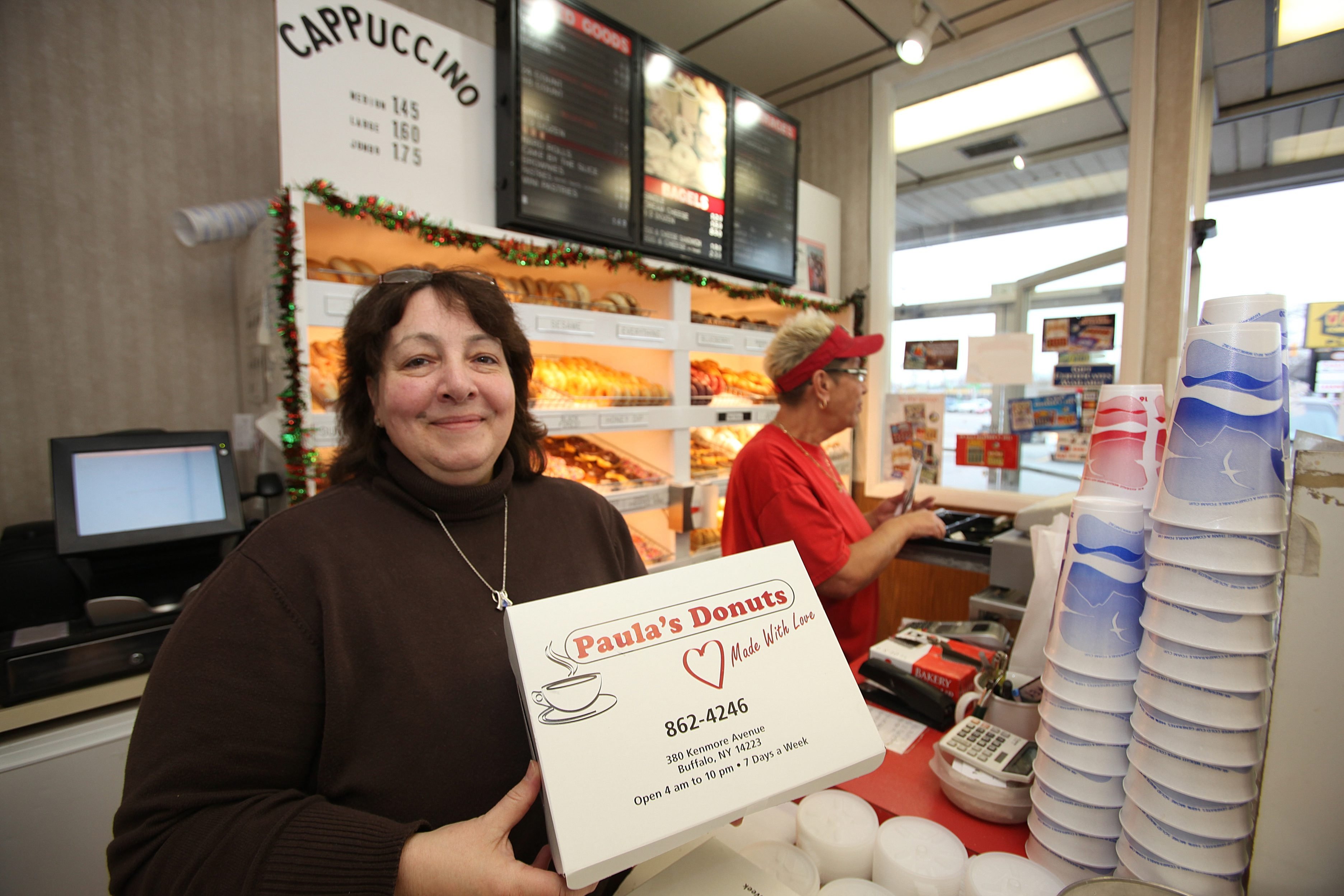 Paula Huber spent 17 years running her doughnut shop, Paula's Donuts, out of this Kenmore Avenue storefront. Soon, she'll add a West Seneca location.